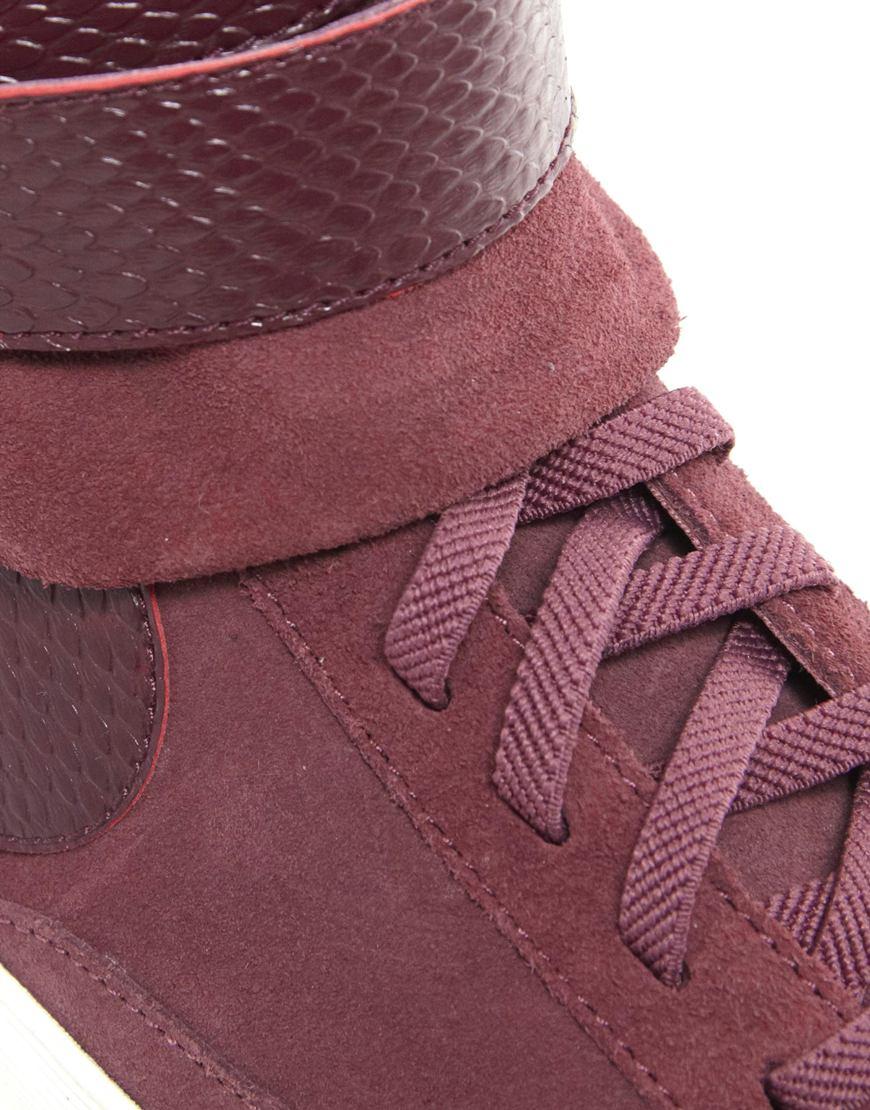 buy popular b1531 2faec coupon for lyst nike blazer mid twist burgundy high top trainers in purple  cb0b8 26e3f
