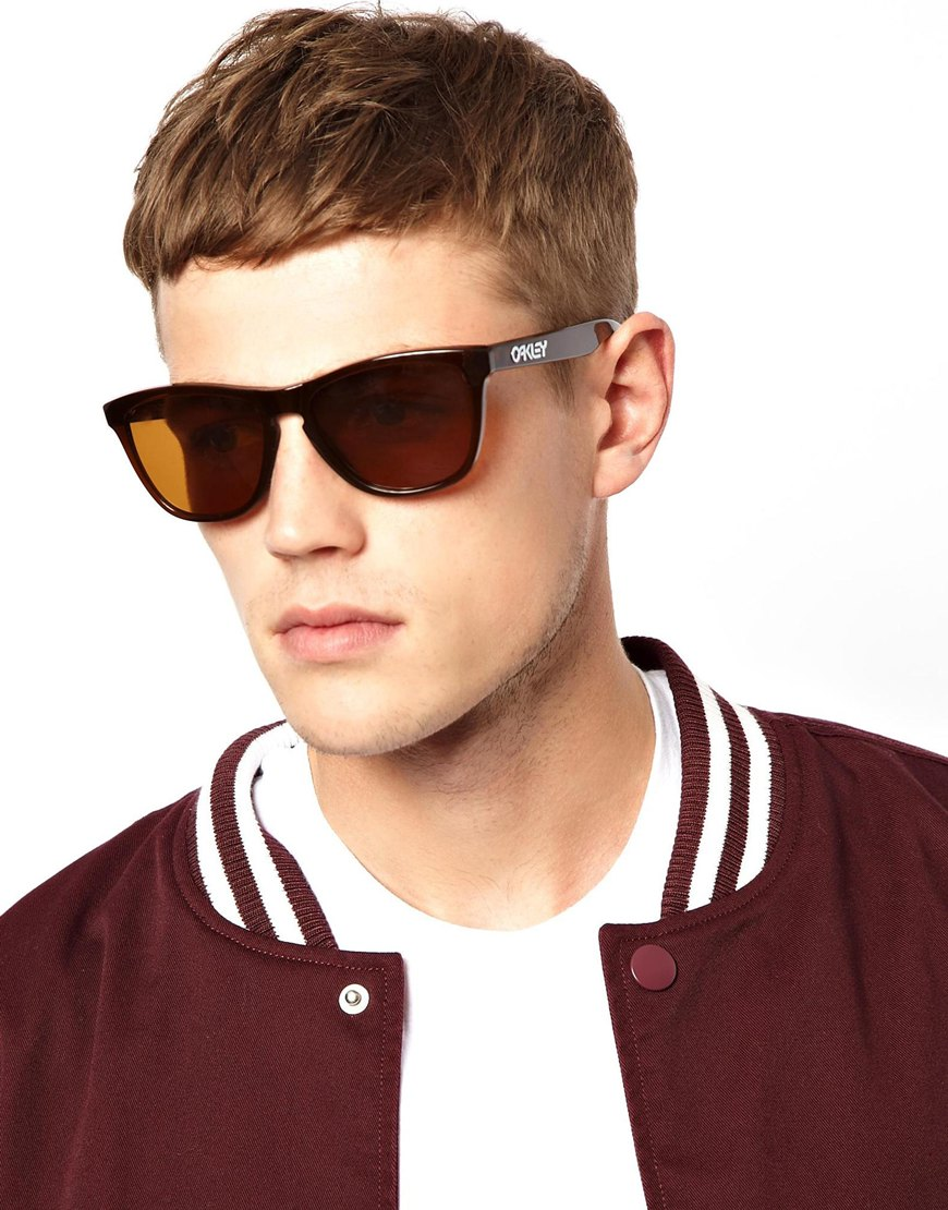 6627a5f11f23 amazon lyst oakley frogskin wayfarer with polarized lenses sunglasses in  brown for men ec70d be9a4