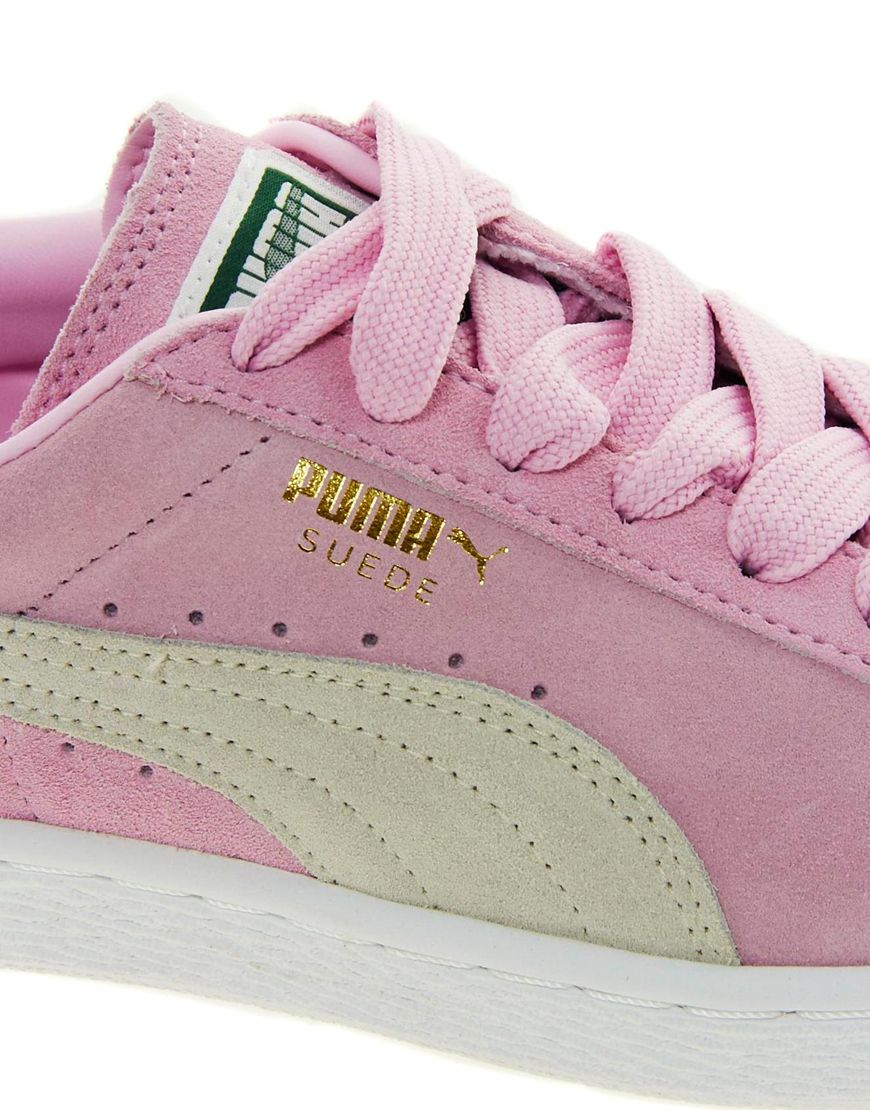 Lyst - PUMA Suede Classic Baby Pink Sneakers in Pink 704b878bc