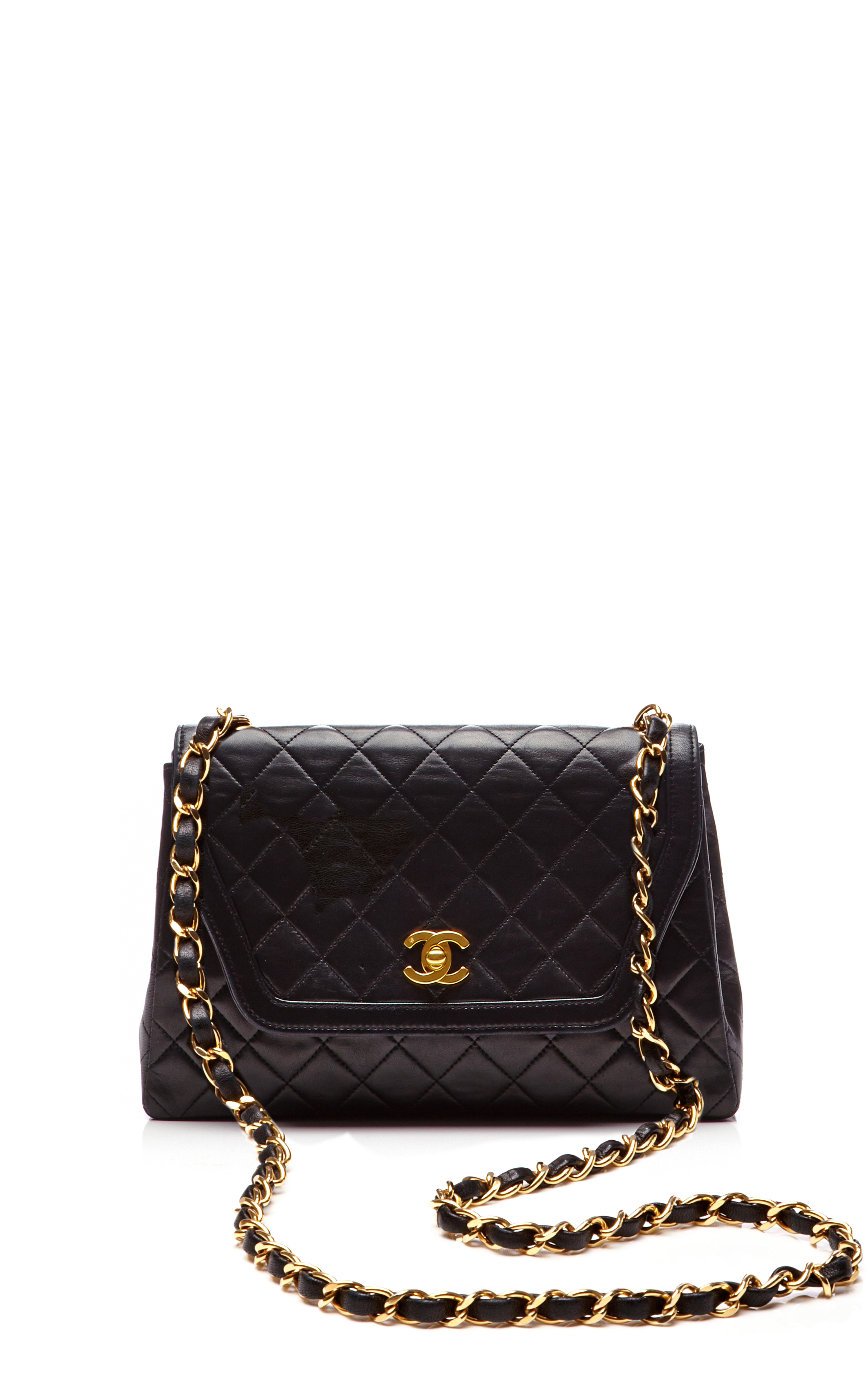Chanel Chanel Black Quilted Lambskin Trapezoid Bag From