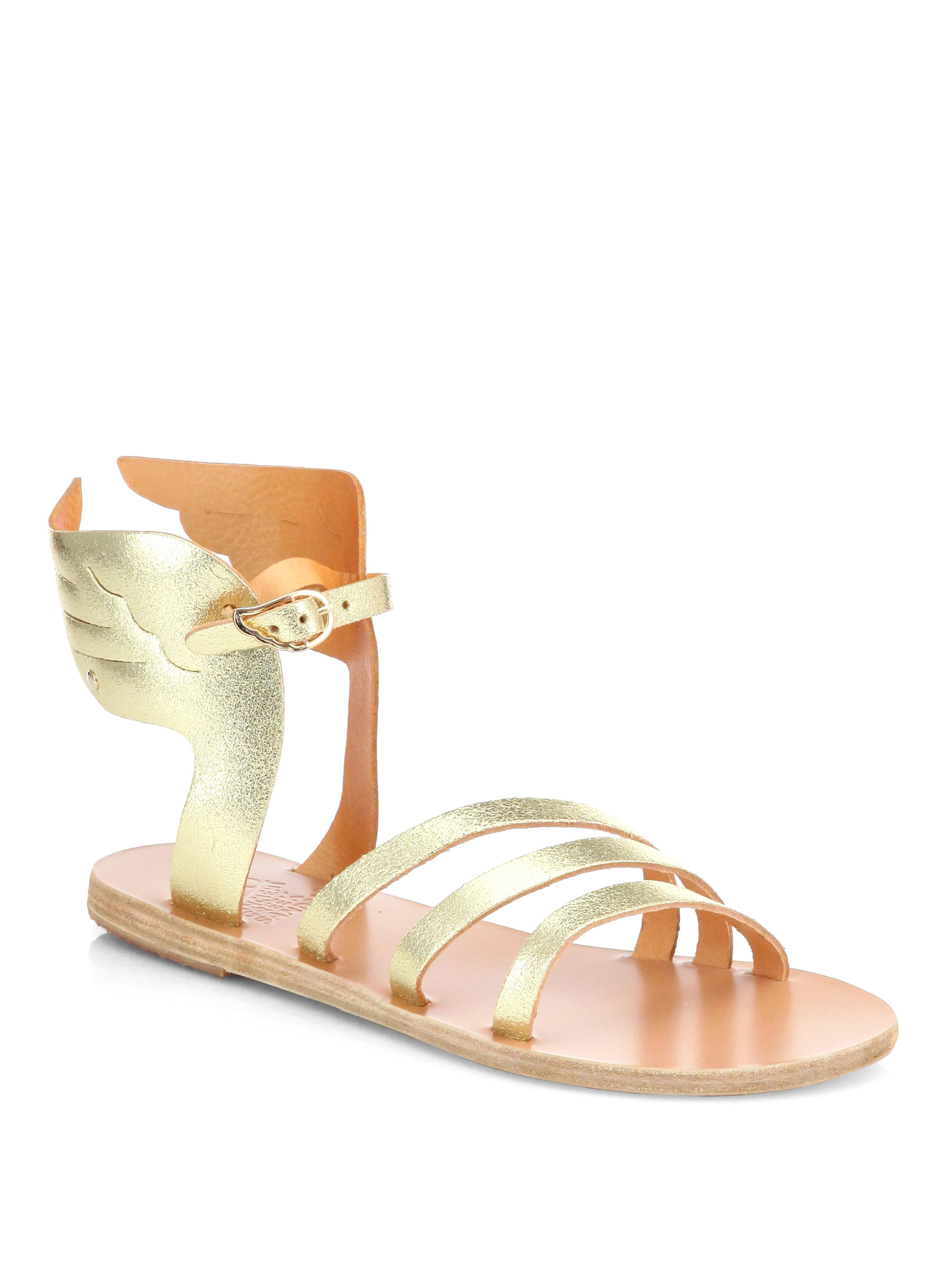 Lyst Ancient Greek Sandals Ikaria Winged Metallic