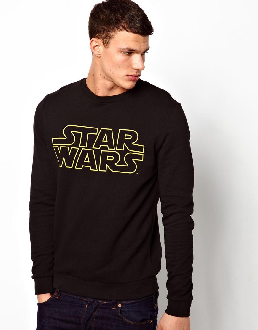 Crew Neck Sweatshirt Star Wars Embroidered kbtEiA2