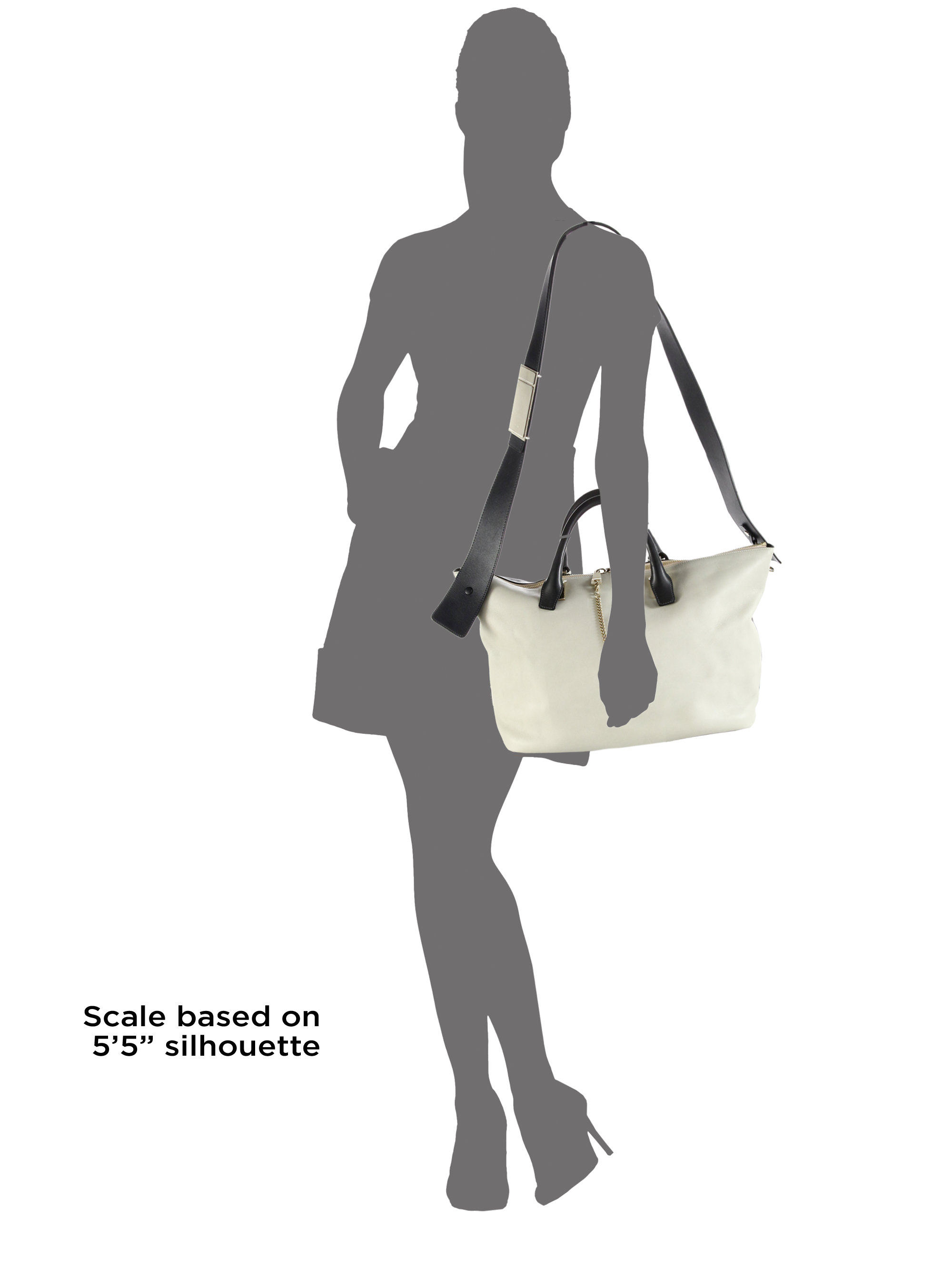 fake chloe - Chlo�� Baylee Medium Two-tone Leather Shoulder Bag in Beige ...