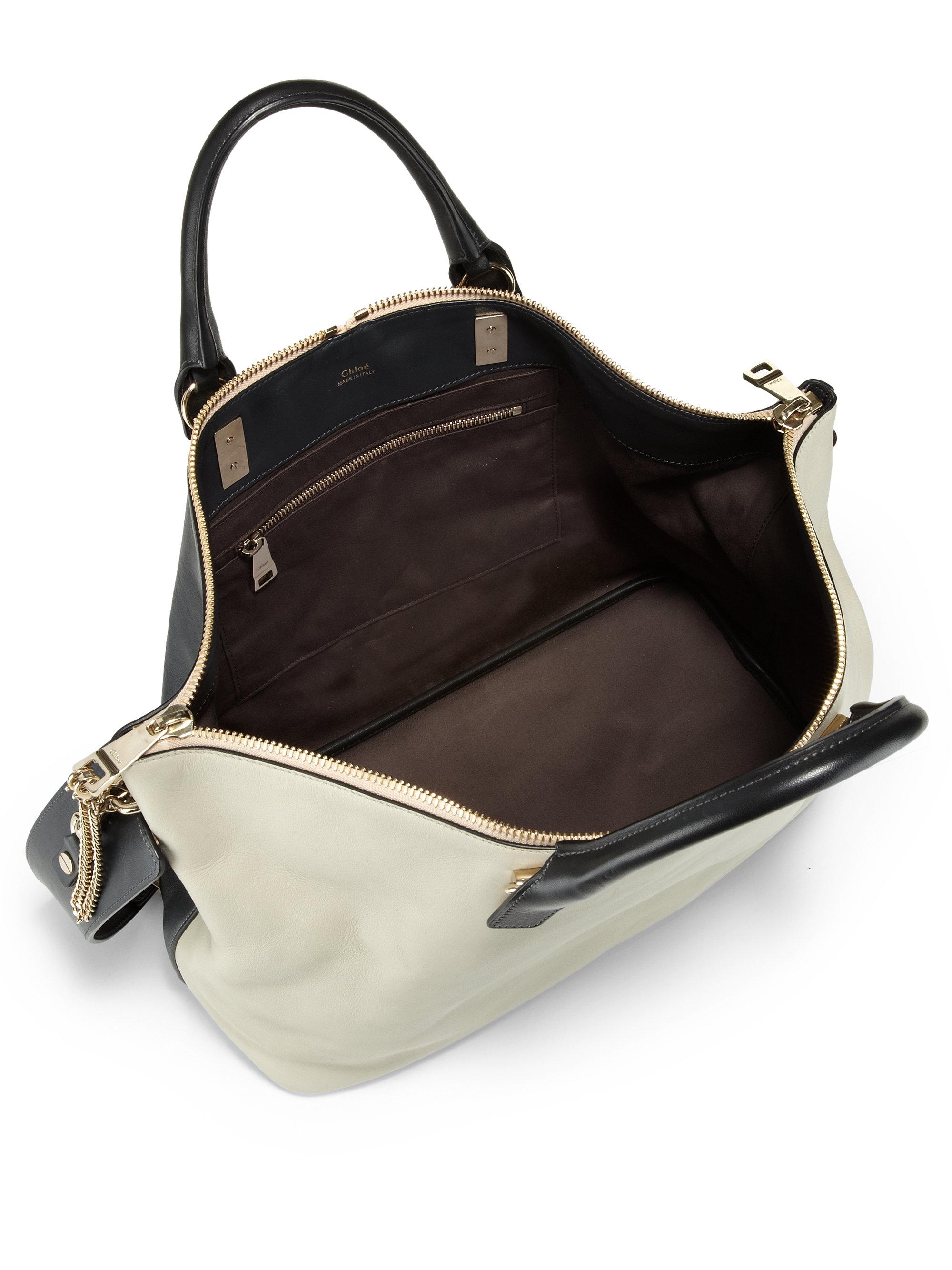 chloe bi-color small baylee bag