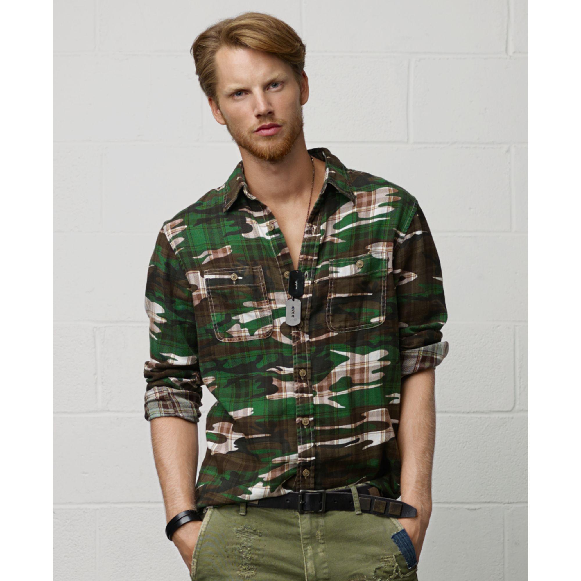3358a67b488be Denim & Supply Ralph Lauren Camouflage Plaid Workshirt for Men - Lyst