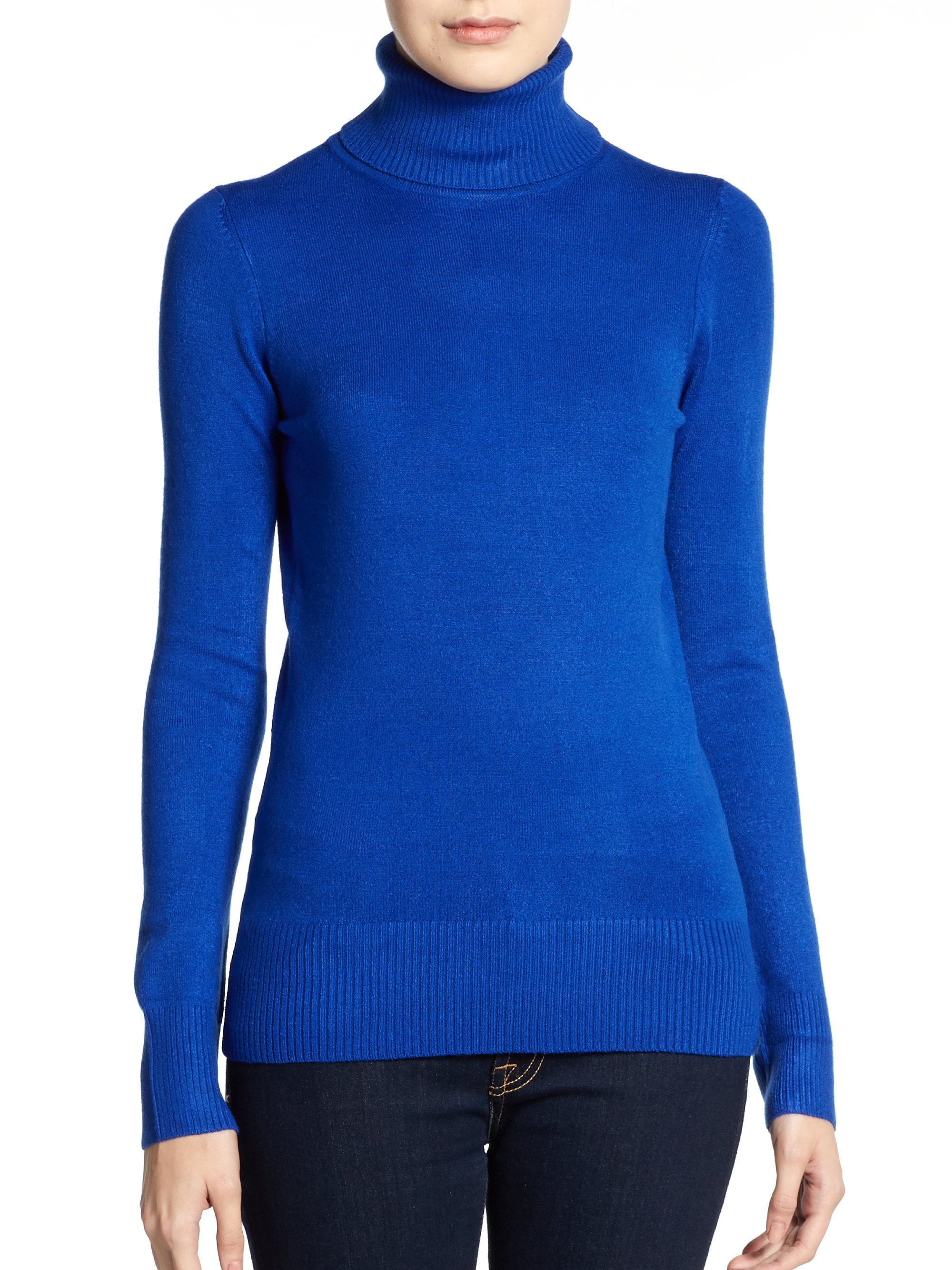 French connection Turtleneck Sweater in Blue | Lyst