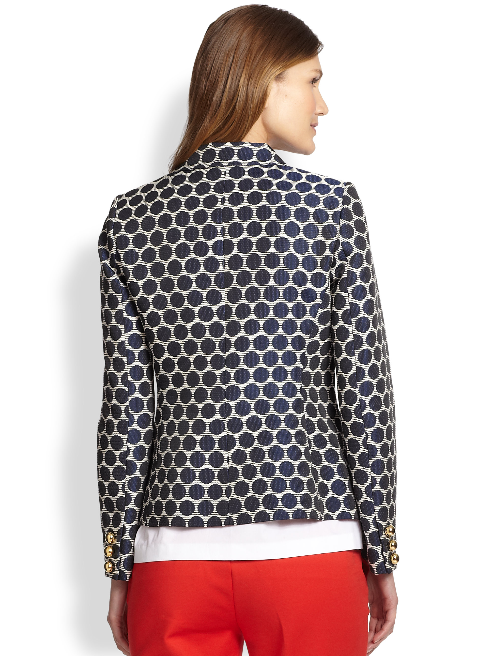 Kate spade new york Millie Patterned Blazer in Blue | Lyst