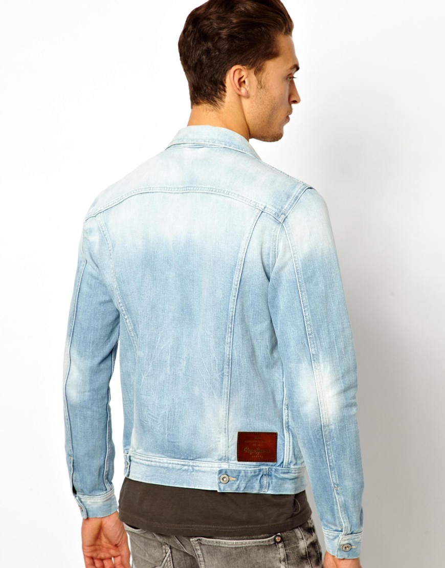 exquisite design boy latest selection of 2019 Pepe Jeans Pepe Denim Jacket Legend Slim Fit Light Wash in ...