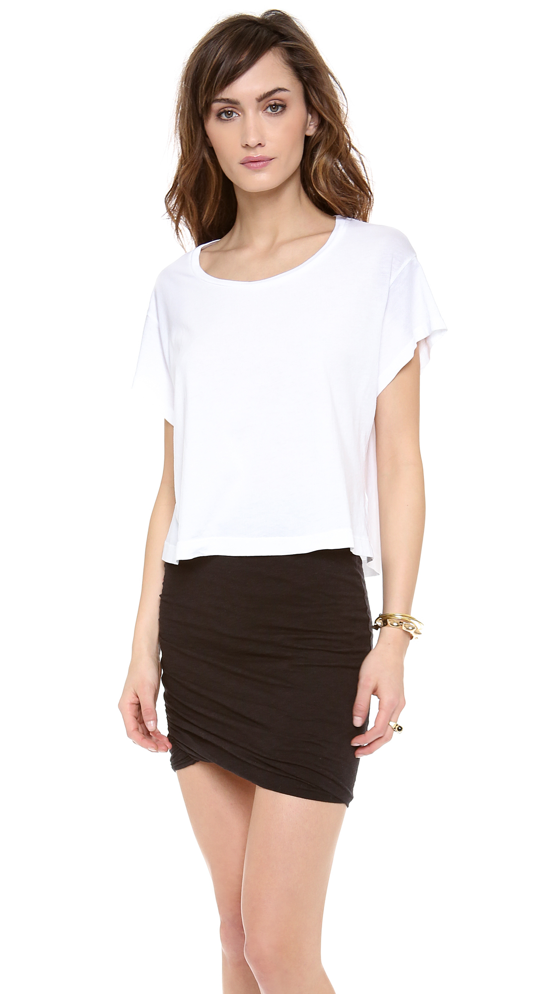 The Lulus Carina White Cropped Tee is so versatile! You can dress her down with some distressed jeans and a killer platform sneaker, or you can class it up a bit by wearing her with a trouser pant and a statement making necklace!/5(13).