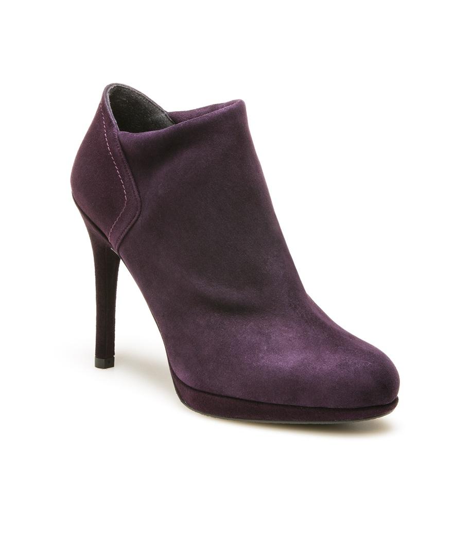 stuart weitzman the bluster bootie in purple concord suede lyst. Black Bedroom Furniture Sets. Home Design Ideas
