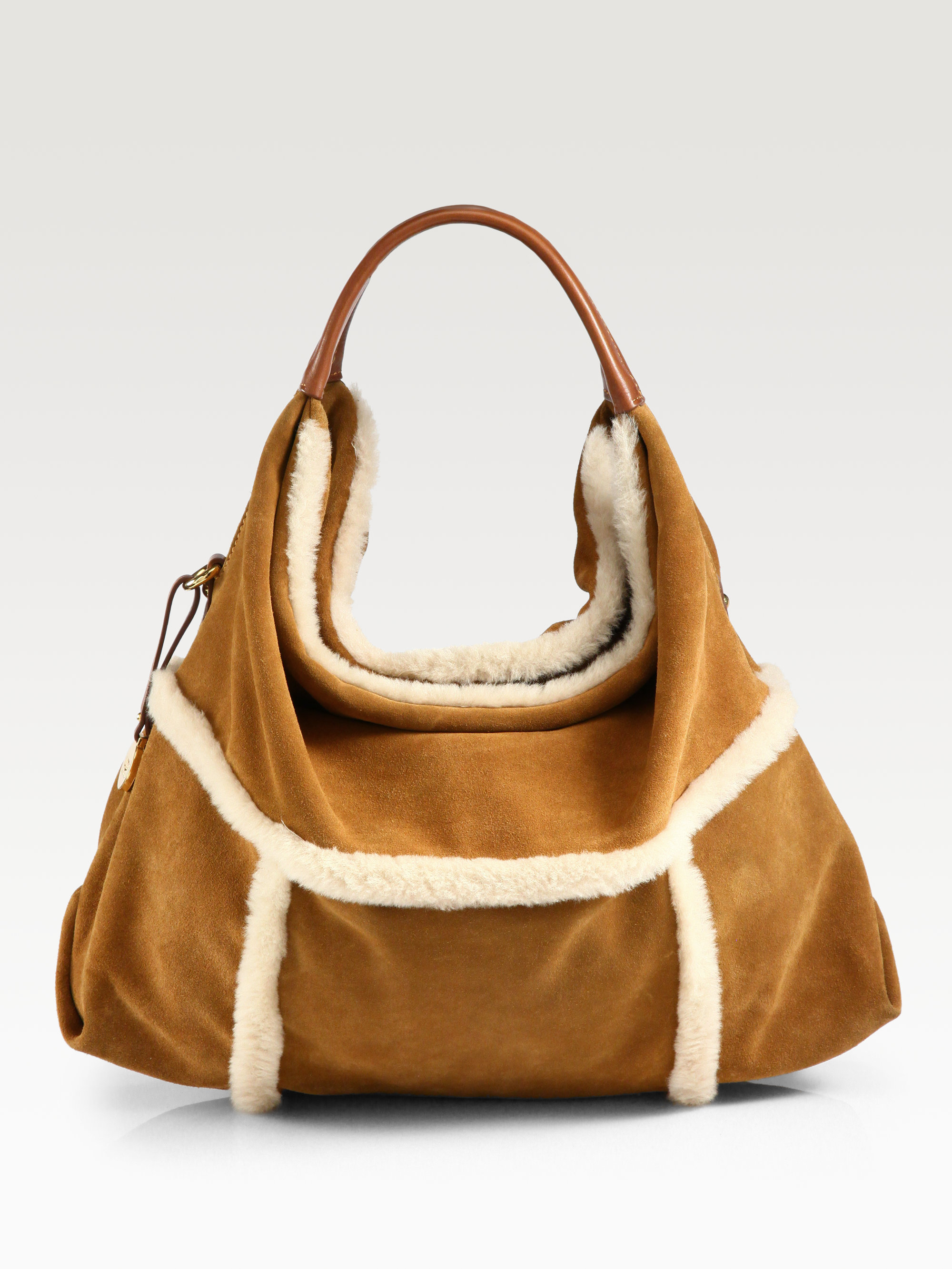 Ugg Quinn Mixed-Media Hobo Bag in Brown | Lyst