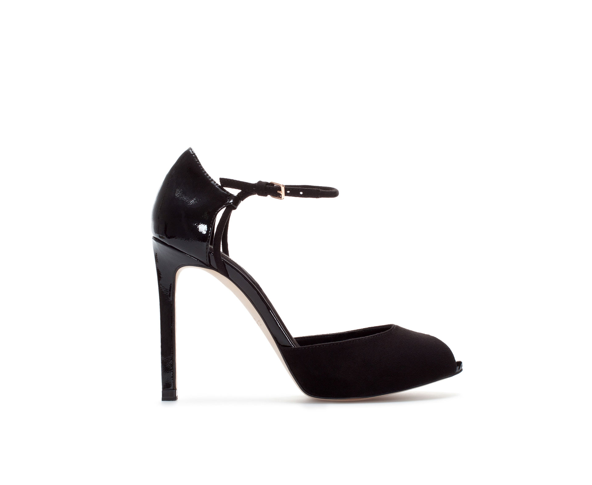 Zara High Heel Sandals with Ankle Strap and Platform in Black | Lyst