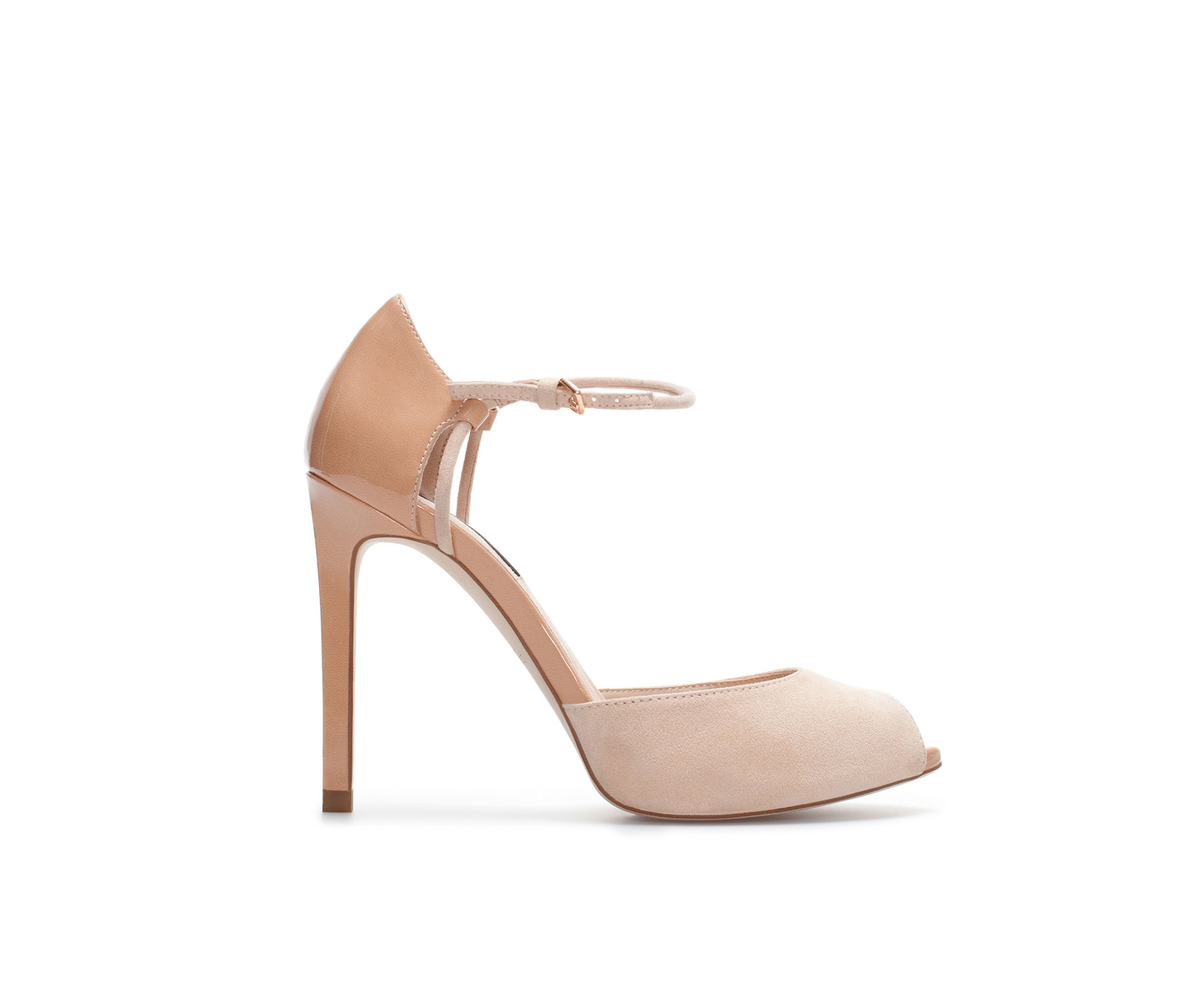 Zara High Heel Sandals with Ankle Strap and Platform in Natural | Lyst