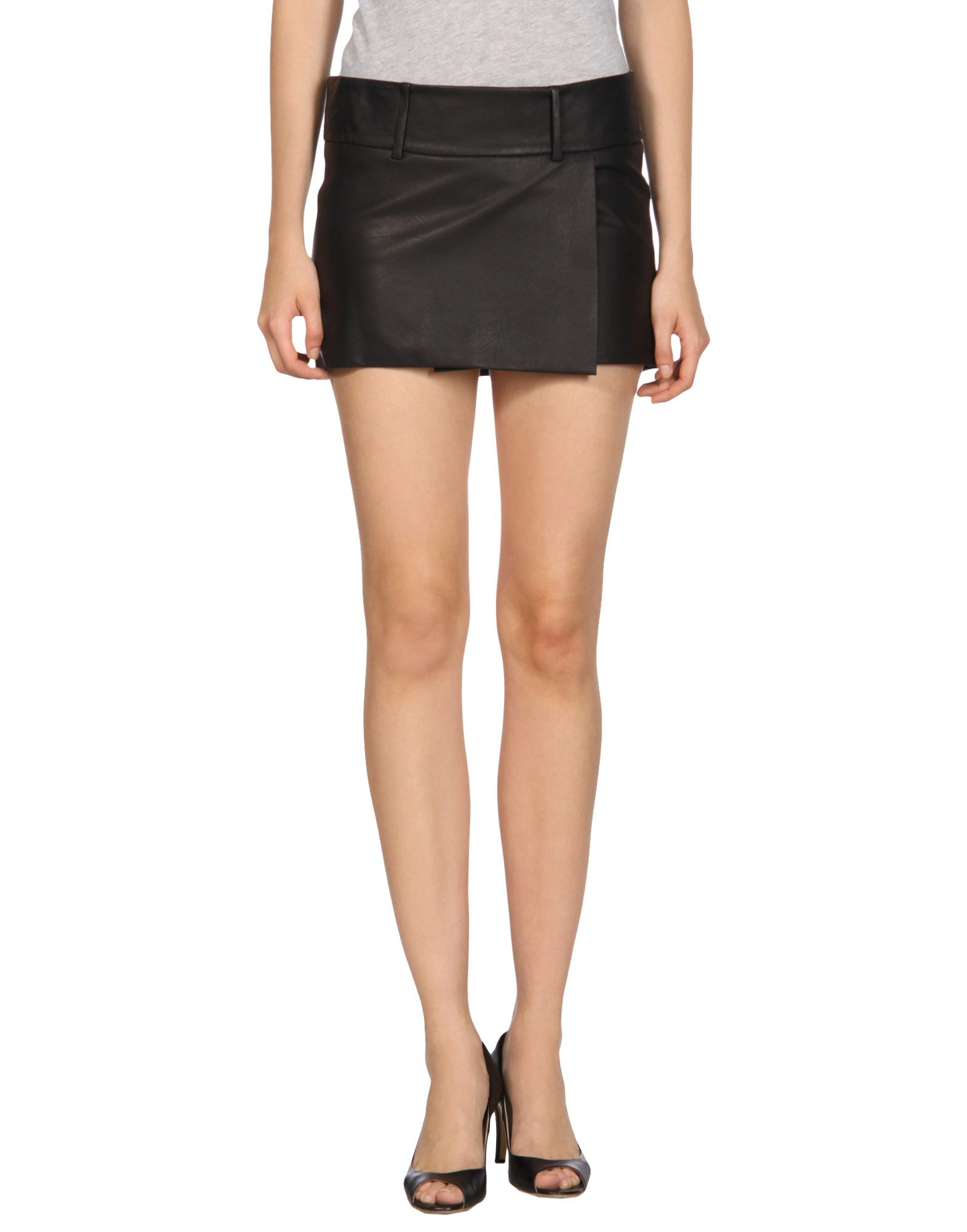 acne leather skirt in black save 35 lyst