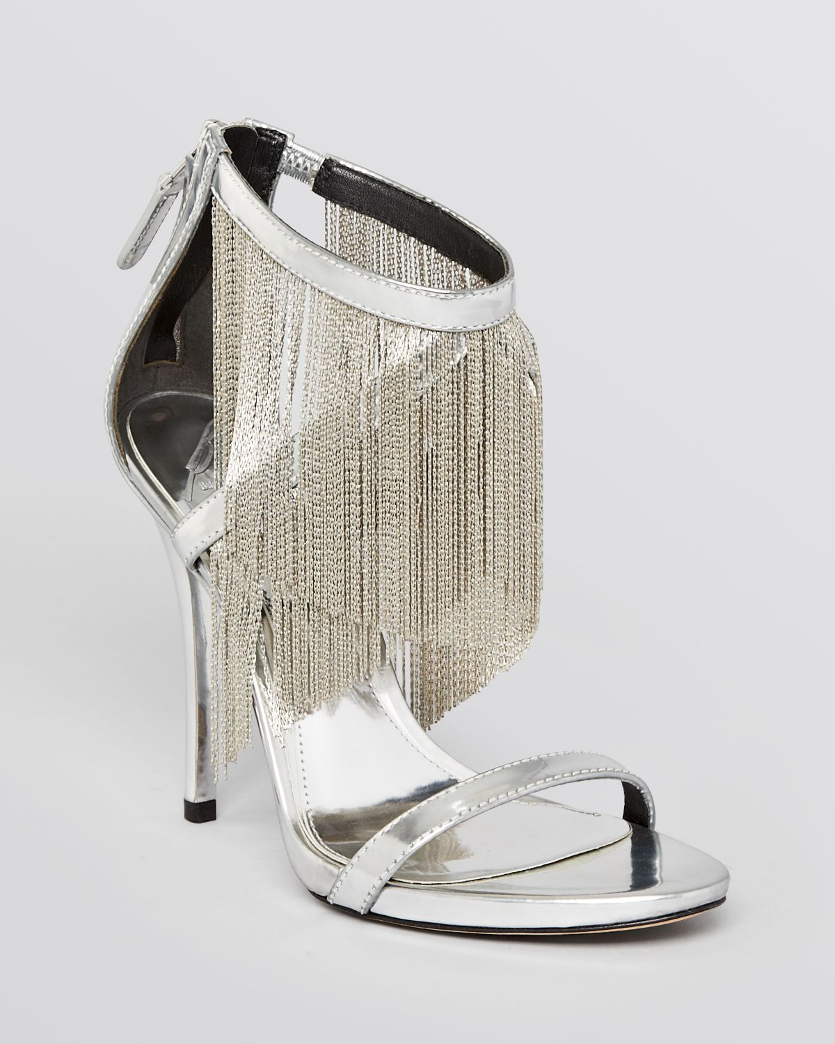 74e4131f846 Lyst - B Brian Atwood Evening Sandals Condesa Fringe High Heel in ...