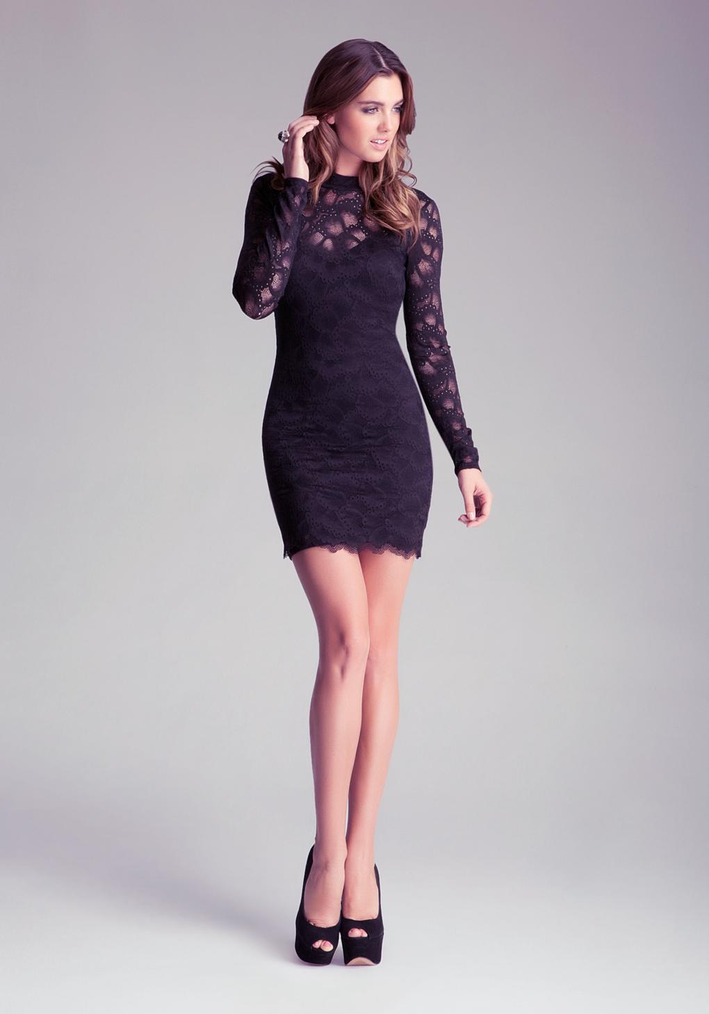 Black dress bebe - Gallery Women S Black Lace Cocktail Dresses