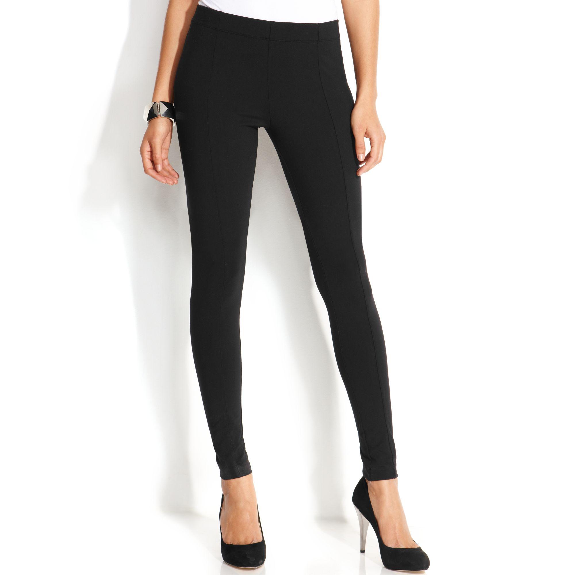 e256e991b3aef INC International Concepts Seamed Skinny Leggings in Black - Lyst