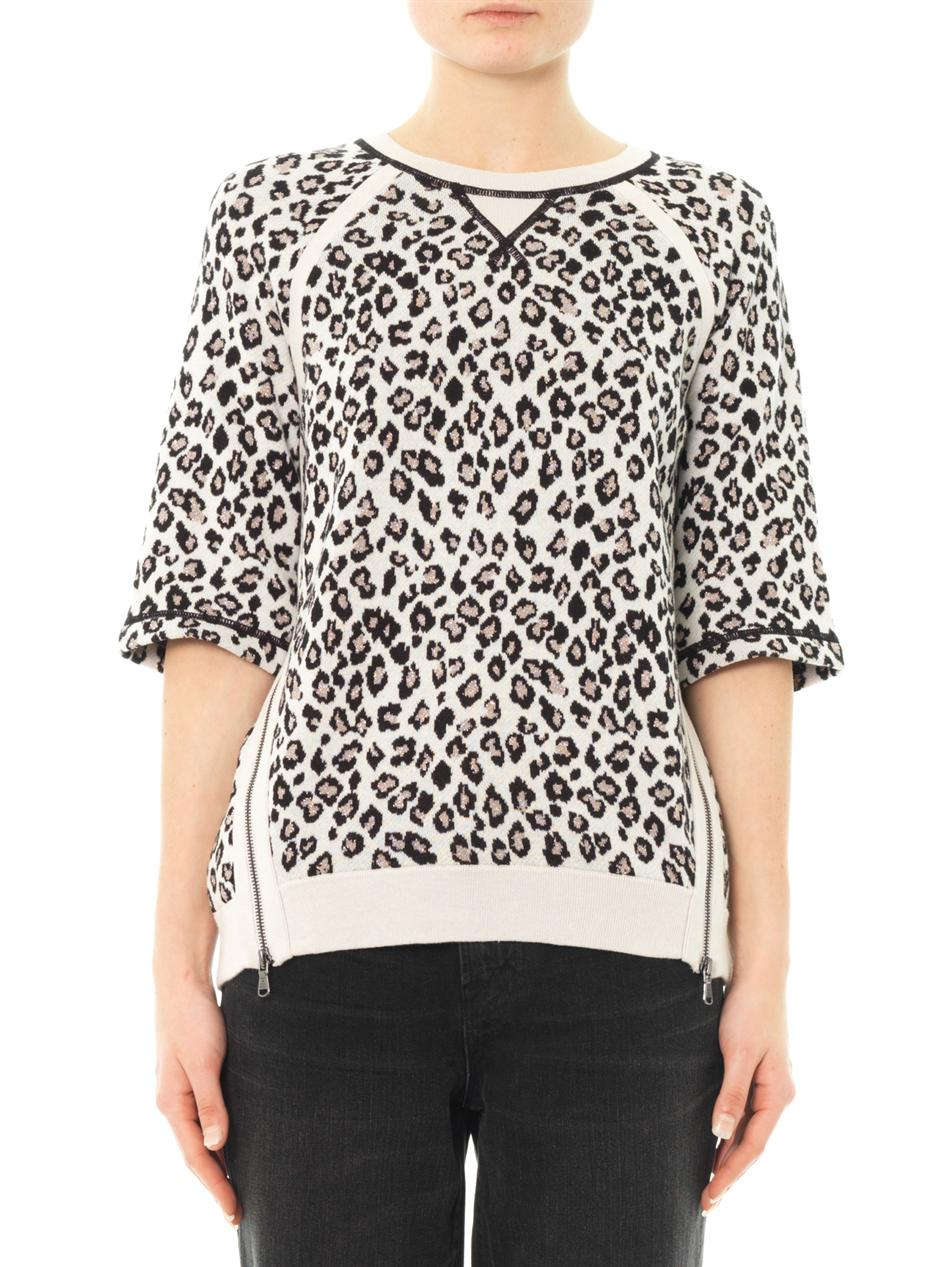 46240a05089e Marc By Marc Jacobs Sasha Leopard Sweater - Lyst