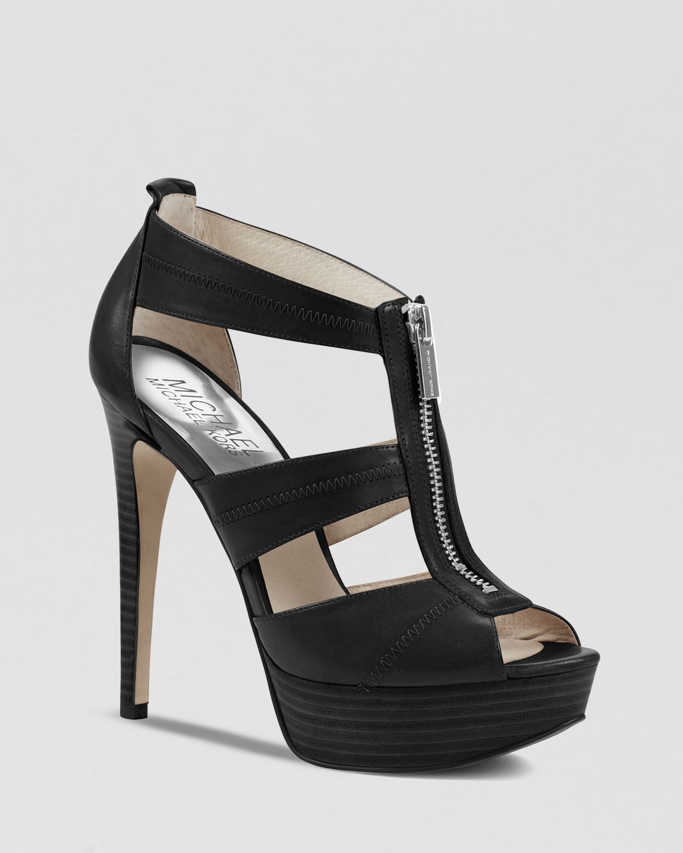 6cbac48d4779 Lyst - MICHAEL Michael Kors Peep Toe Platform Sandals - Berkley High ...
