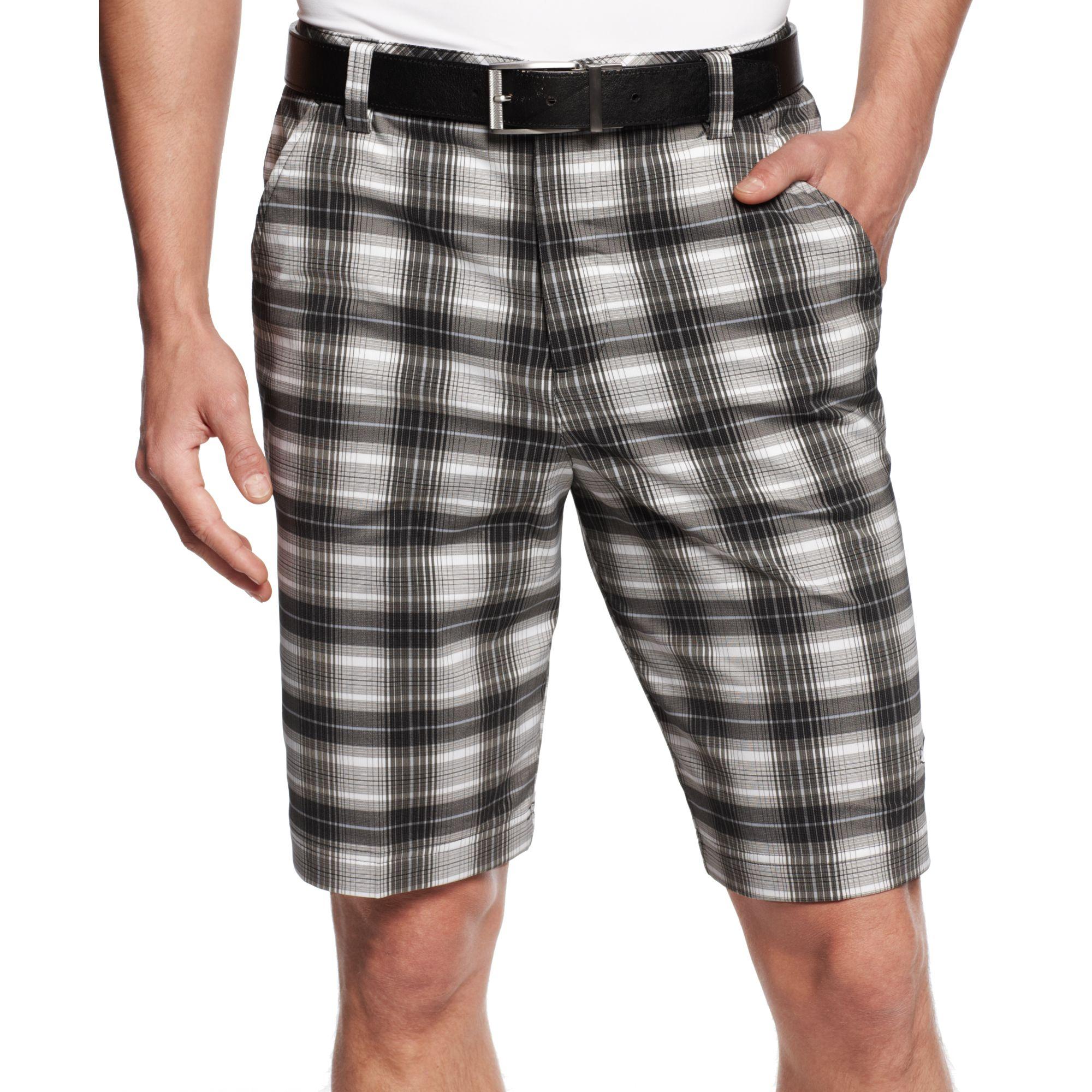 13265a958d1c Lyst - PUMA Drycell Blur Plaid Tech Performance Golf Shorts in White ...
