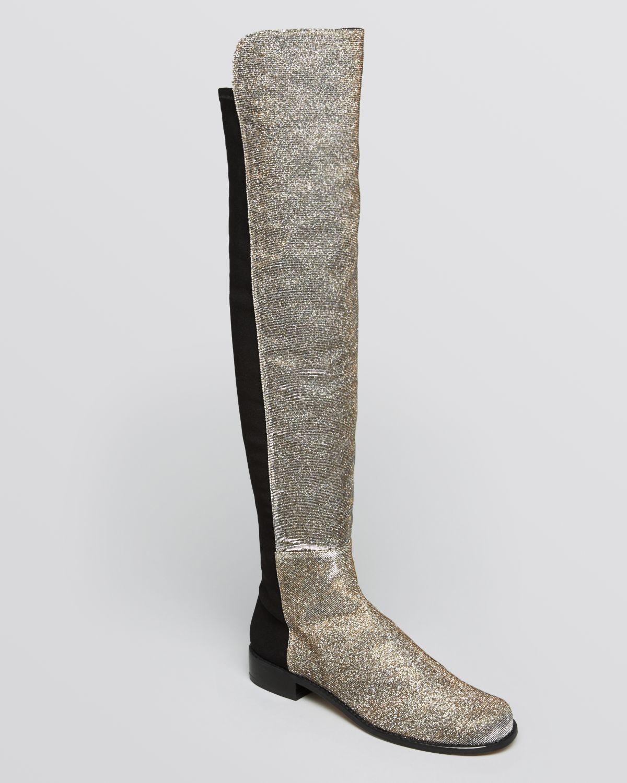 Stuart Weitzman Glitter Over-The-Knee Boots cheap sale 2014 pSUHu