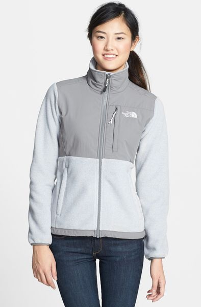 the north face denali jacket in white  white heather