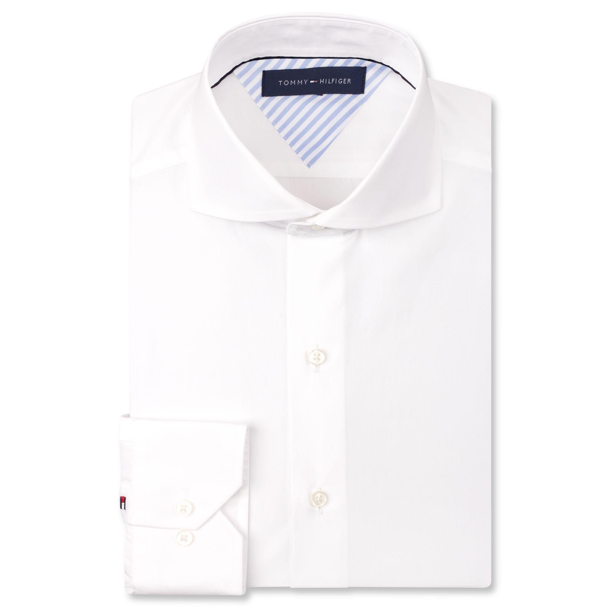 Tommy hilfiger white cutaway collar dress shirt in white for White cutaway collar shirt