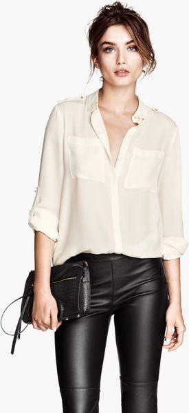 White Chiffon Blouse H&M 32