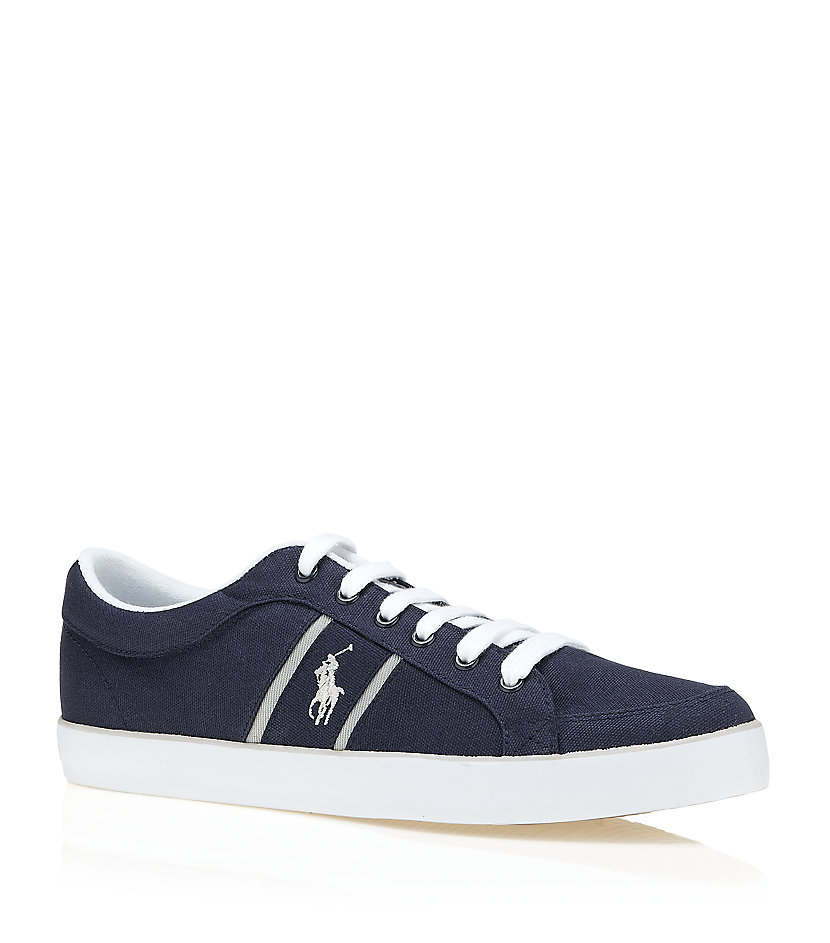 polo ralph lauren bolingbrook canvas sneaker in blue for men lyst. Black Bedroom Furniture Sets. Home Design Ideas