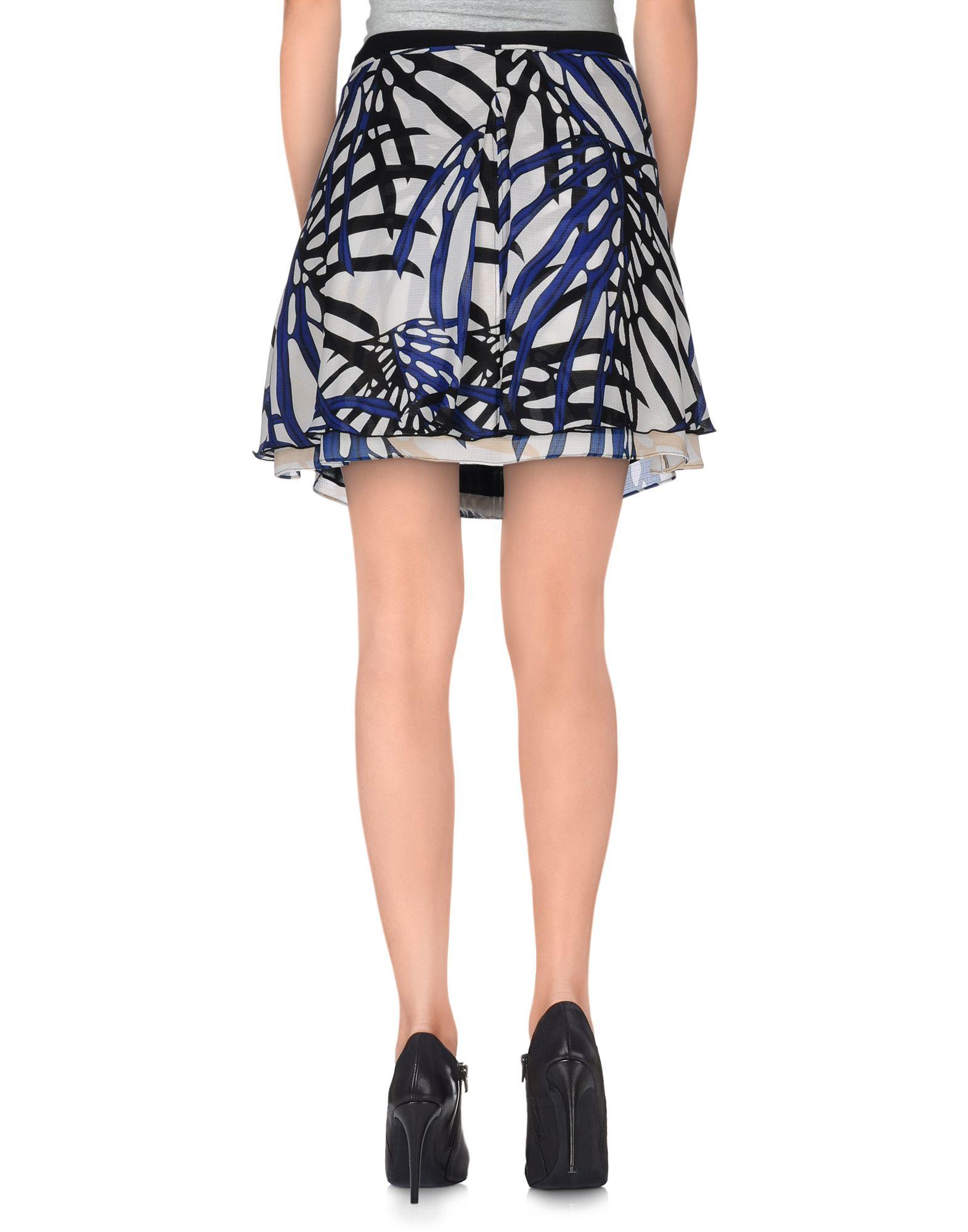 proenza schouler mini skirt in white lyst