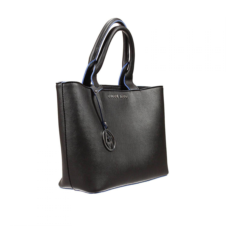 Lyst - Armani Jeans Handbag Bag Eco Saffiano Unlined Shopping Small ... f3a2285d61d8e