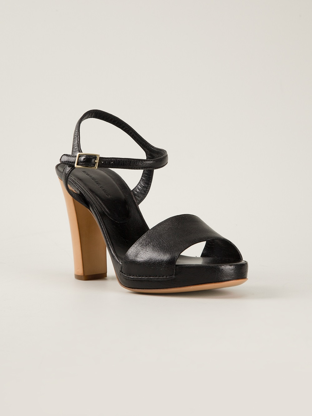 Black sandals chunky heel - Black Chunky Heel Sandals