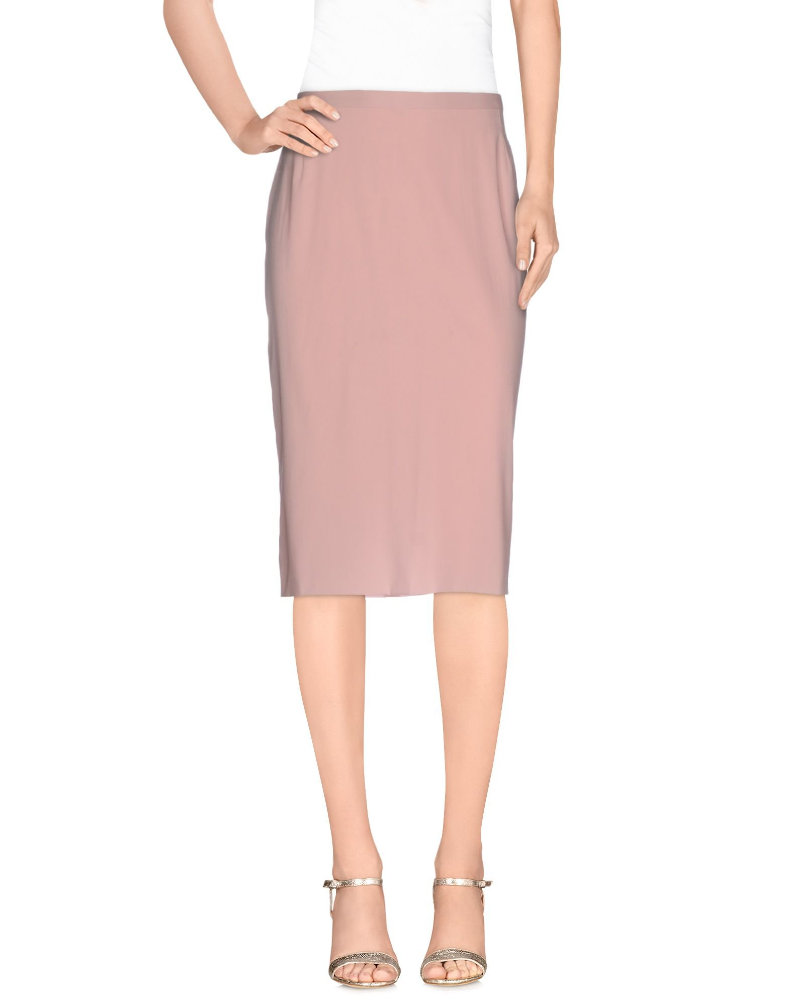 dolce gabbana knee length skirt in pink lyst