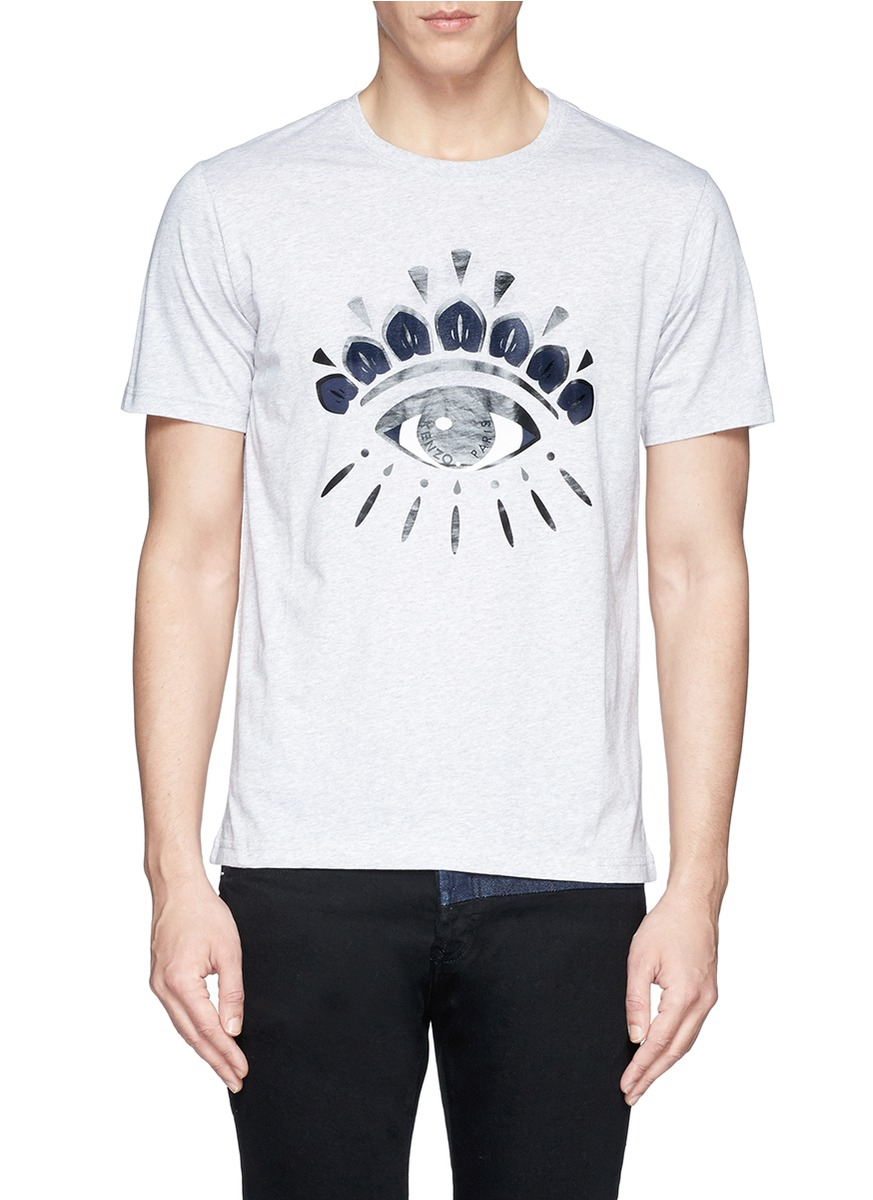 bd4ca3decd93 KENZO Eye Print T-shirt in Gray for Men - Lyst