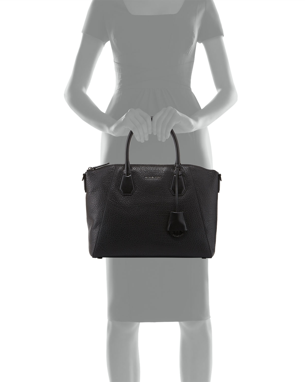 071ea179a9bb Lyst - MICHAEL Michael Kors Campbell Large Satchel Bag in Black