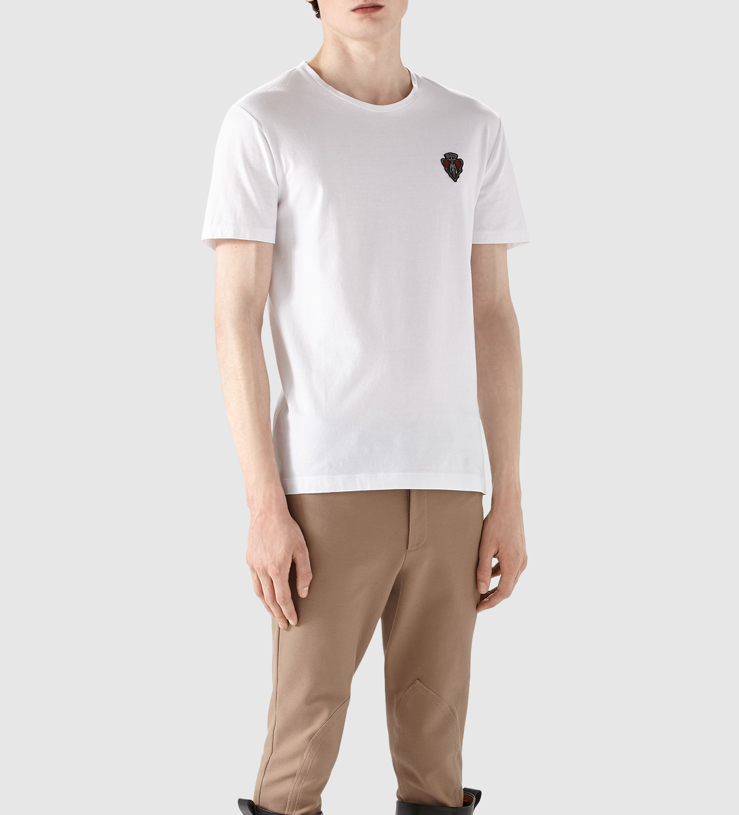 Gucci Cotton Jersey T-shirt in White for Men