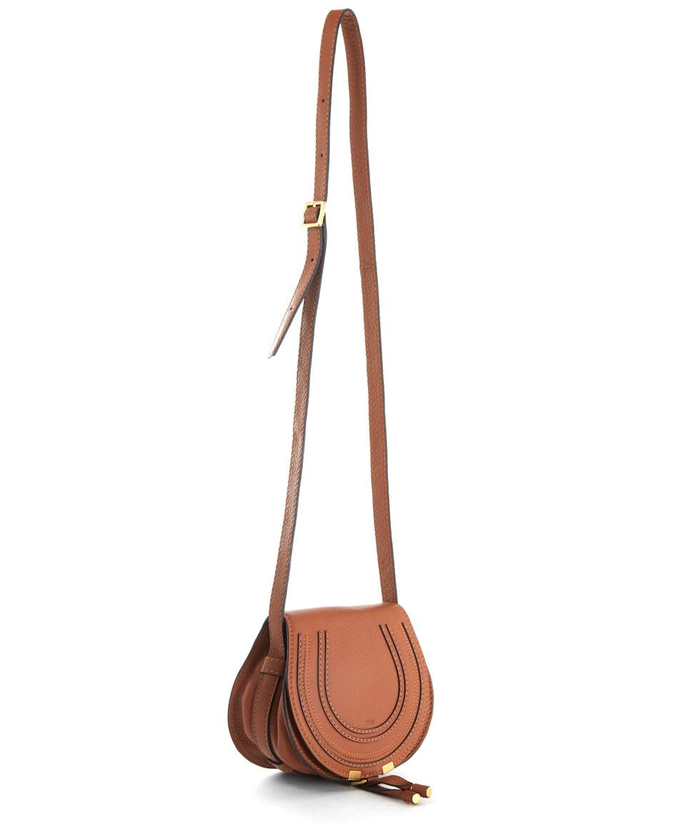 Chloe Small Marcie Saddle Crossbody Handbags Online Tan Leather