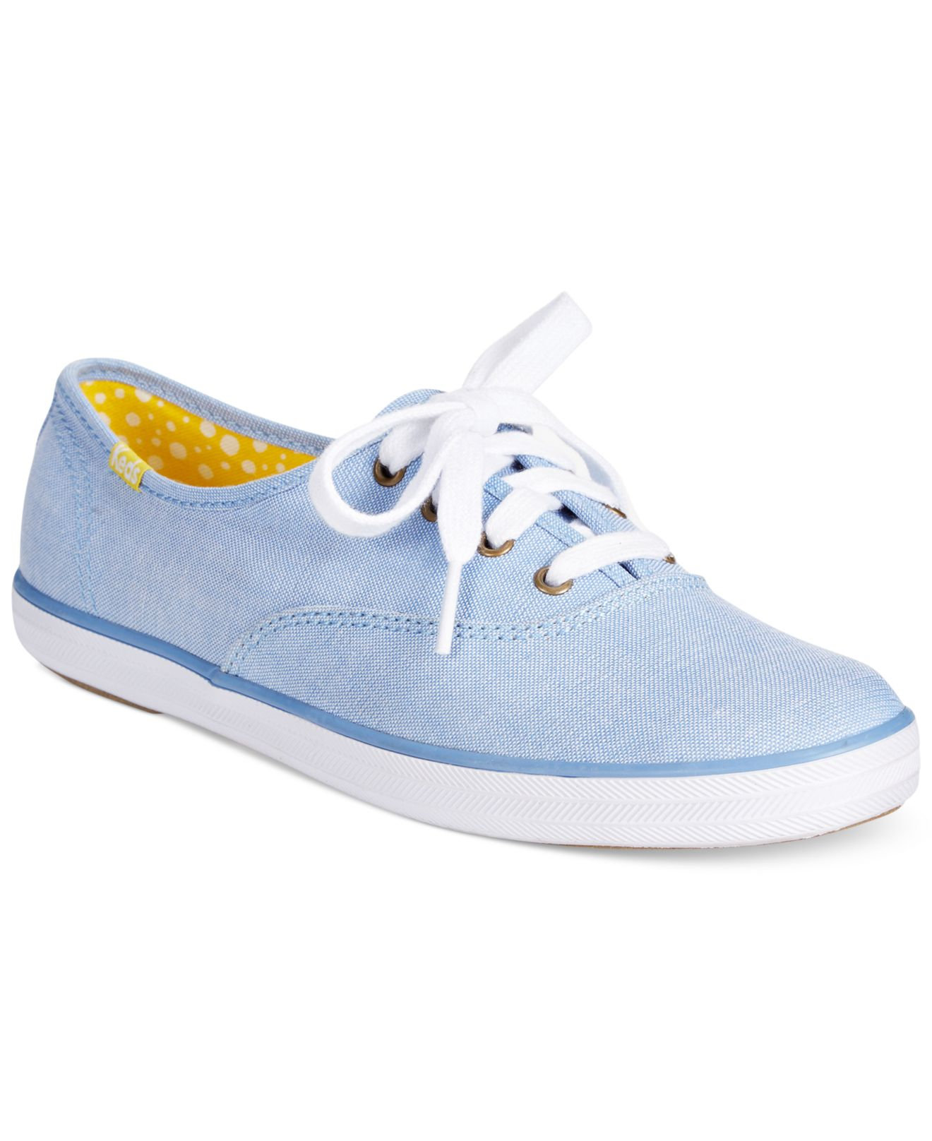 e7f3c86c6e7ae1 Lyst - Keds Women s Spring Champion Oxford Sneakers in Blue