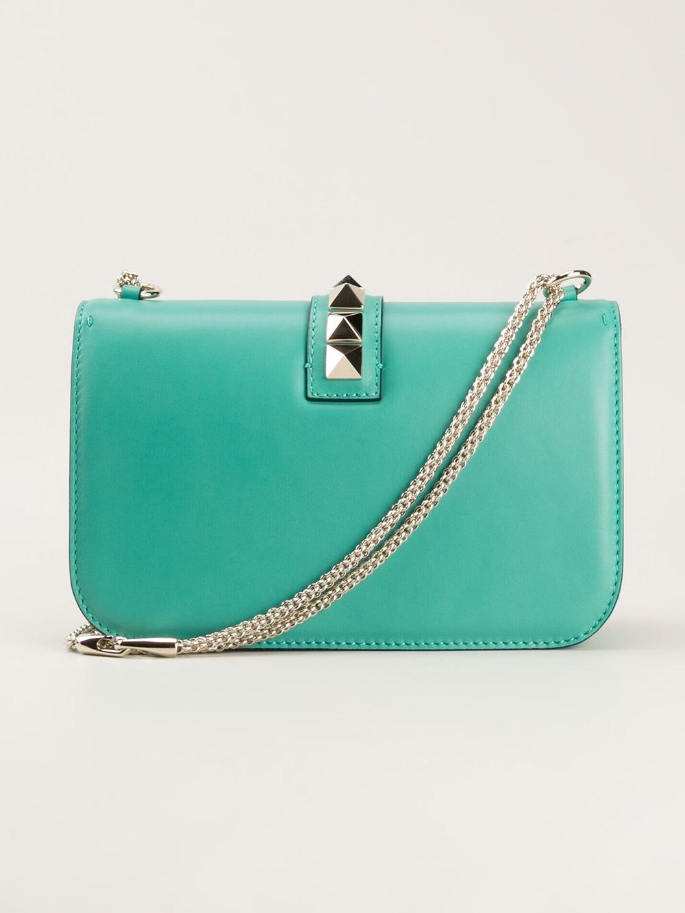 Valentino Garavani 'Glam Lock' denim shoulder bag ($1,880 ...