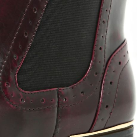 Brogue Boots Office Red Brogue Chelsea Boots
