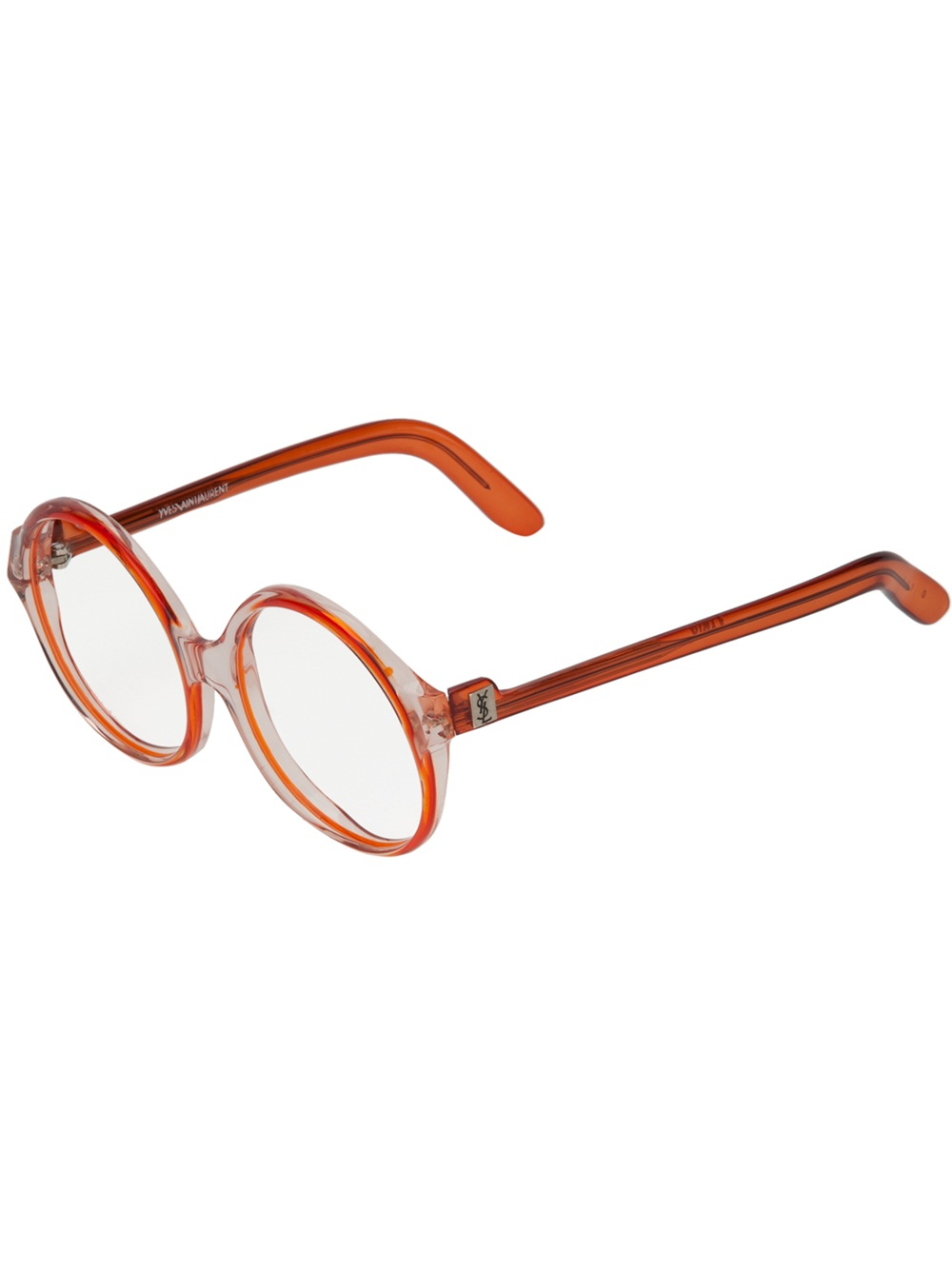 Ysl Glasses Frame : Yves Saint Laurent Vintage Oversize Round Frame Glasses in ...