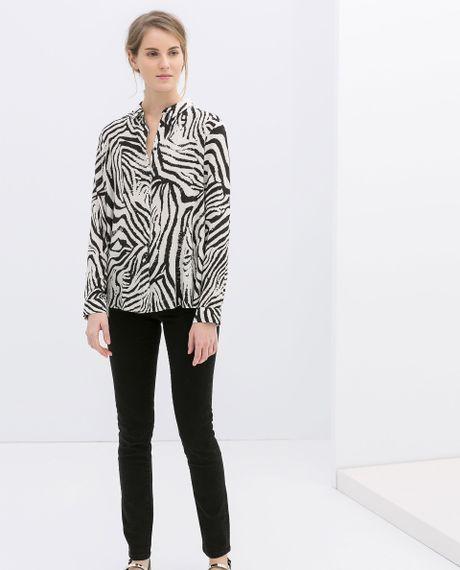 Zebra Print Blouse Dames 27