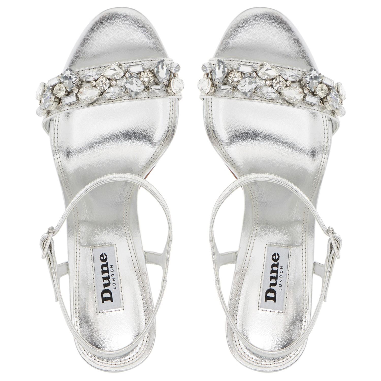 669c1ff08 Dune Mya Jewel Embellished High Heel Sandals in Metallic - Lyst