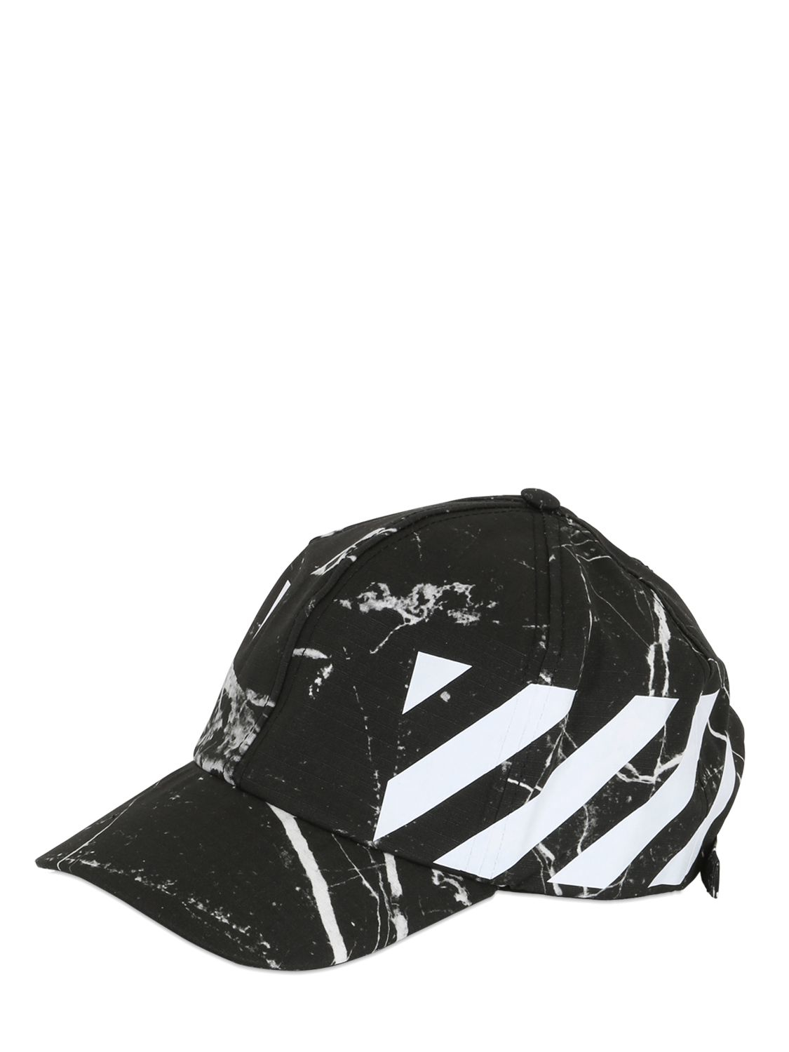 Lyst - Off-White c o Virgil Abloh Marble Cotton Canvas Baseball Hat ... 8c7ee5805a1