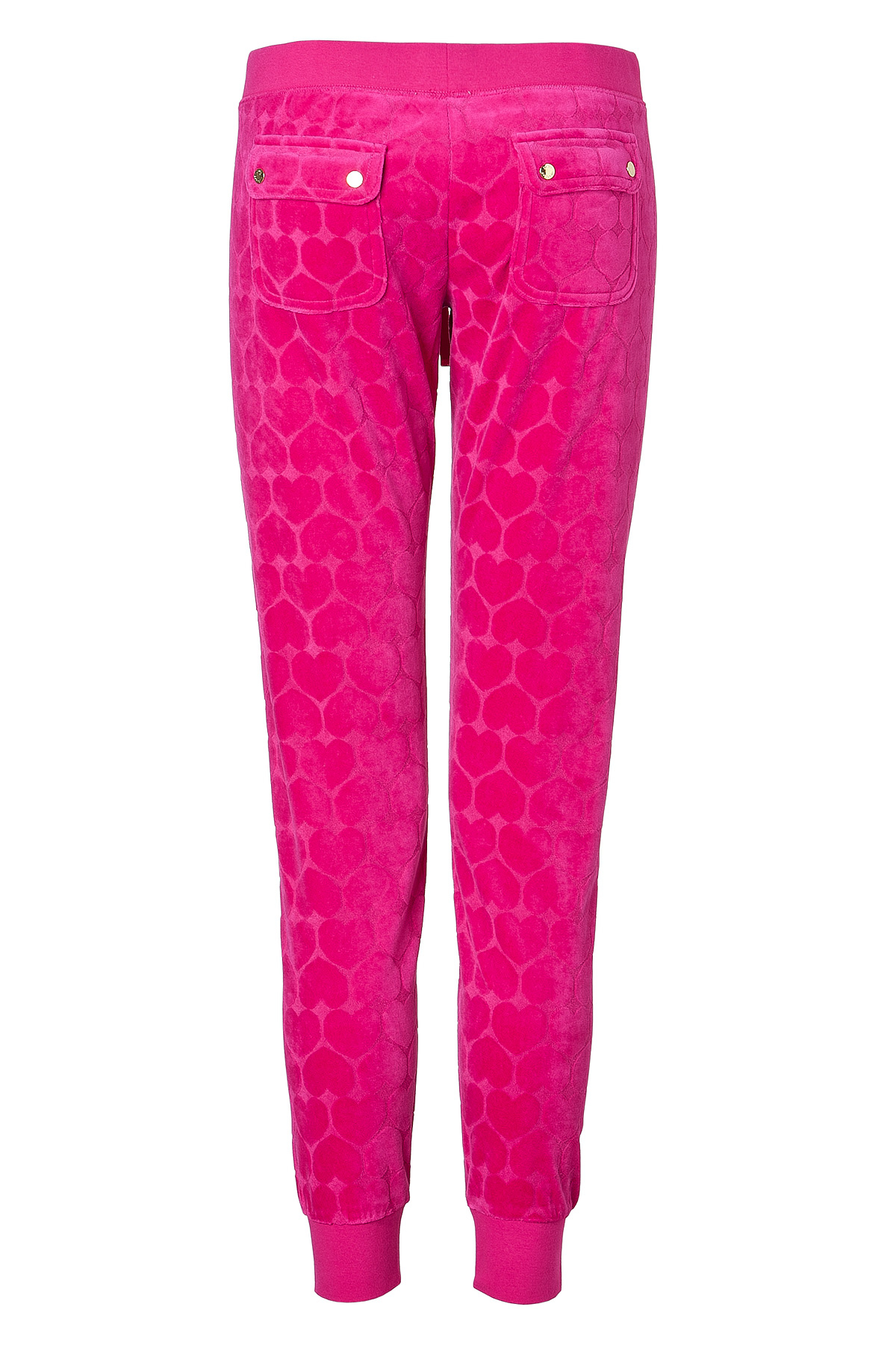 7fb508cc90d8 Lyst - Juicy Couture Velour Heart Jacquard Slim Pants in Fuchsia in Pink