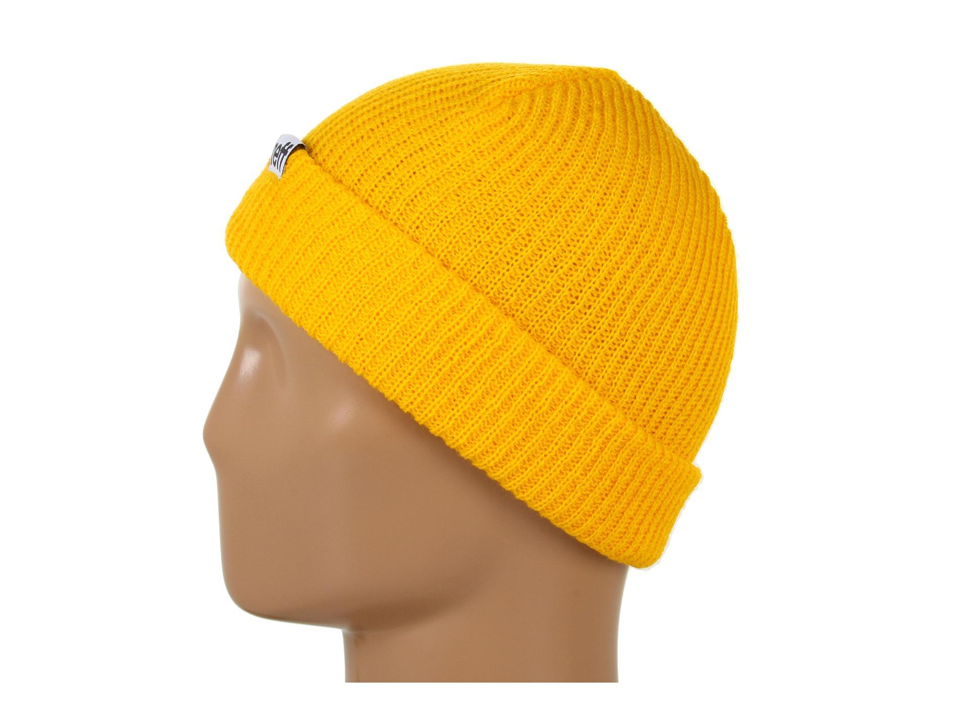 0de8eaf3b49 Lyst - Neff Fold Beanie in Yellow