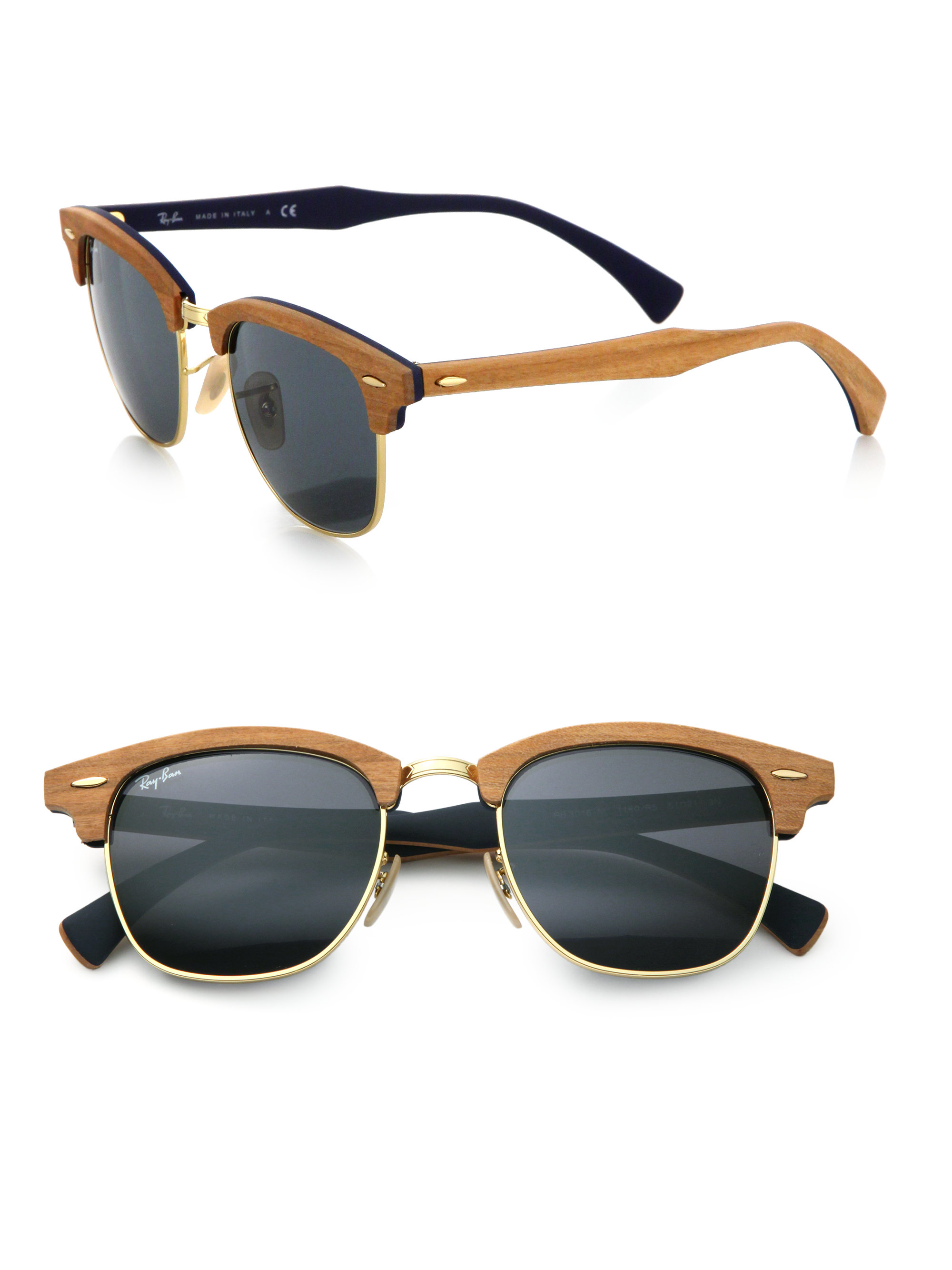 ray ban clubmaster ii sunglasses  gallery. previously sold at: saks fifth avenue · men's ray ban clubmaster