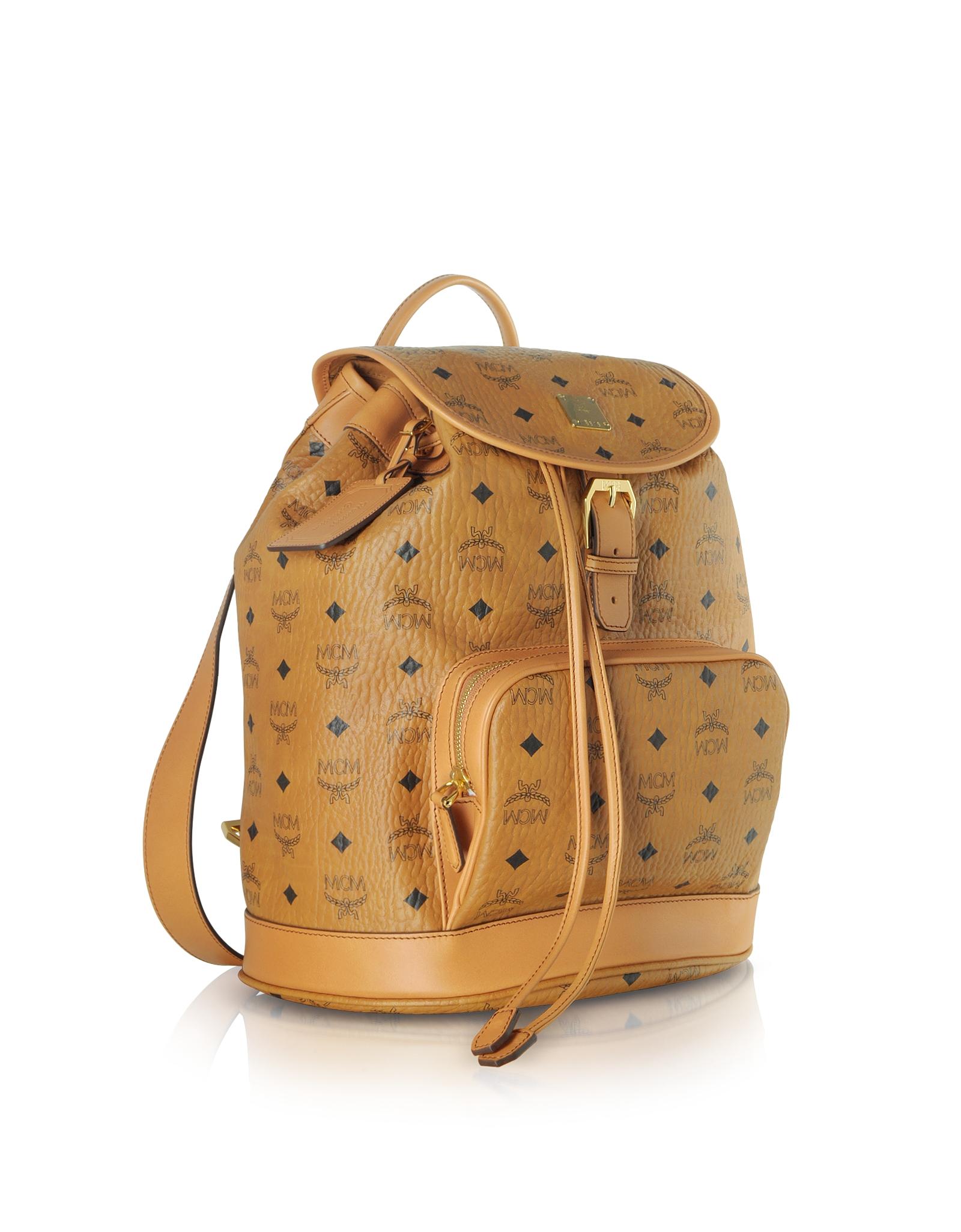 mcm heritage cognac medium backpack in brown lyst. Black Bedroom Furniture Sets. Home Design Ideas