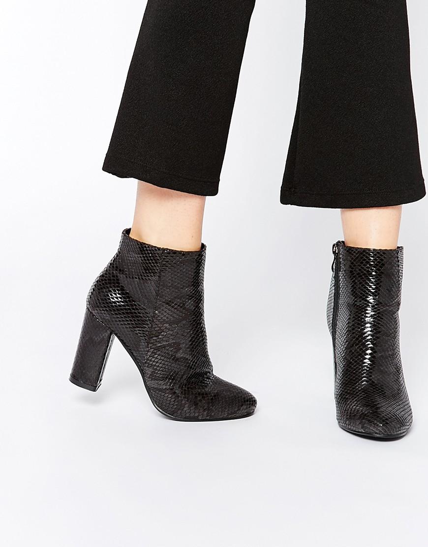 Chaussures De Bloc D'impression Noir quW9g4vZ