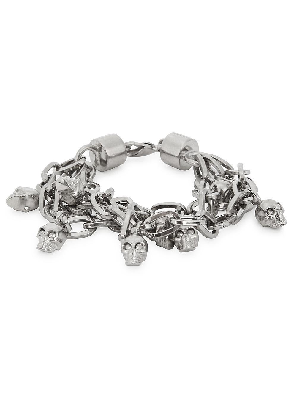 Alexander McQueen Silver-tone Chain Bracelet - Silver 7I6H5Bgp